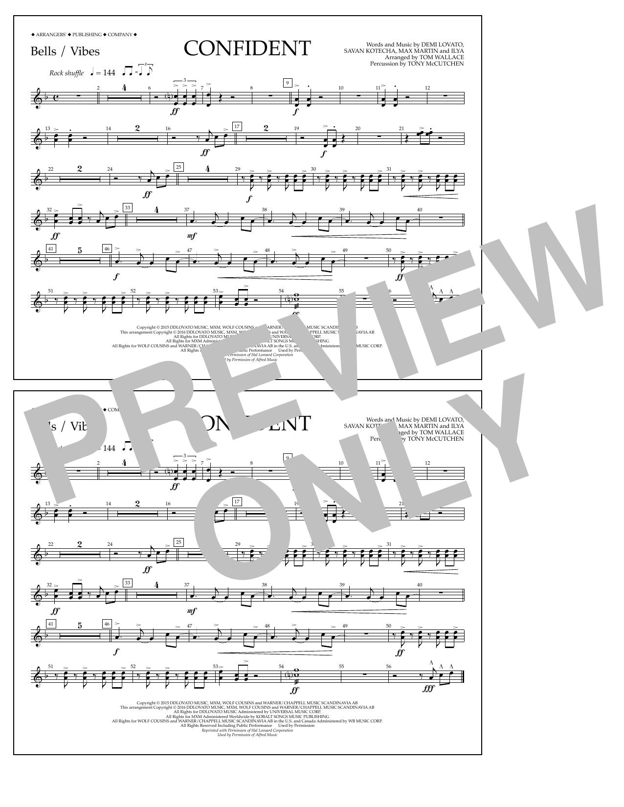 Sheet music digital files to print licensed demi lovato digital confident bellsvibes hexwebz Images