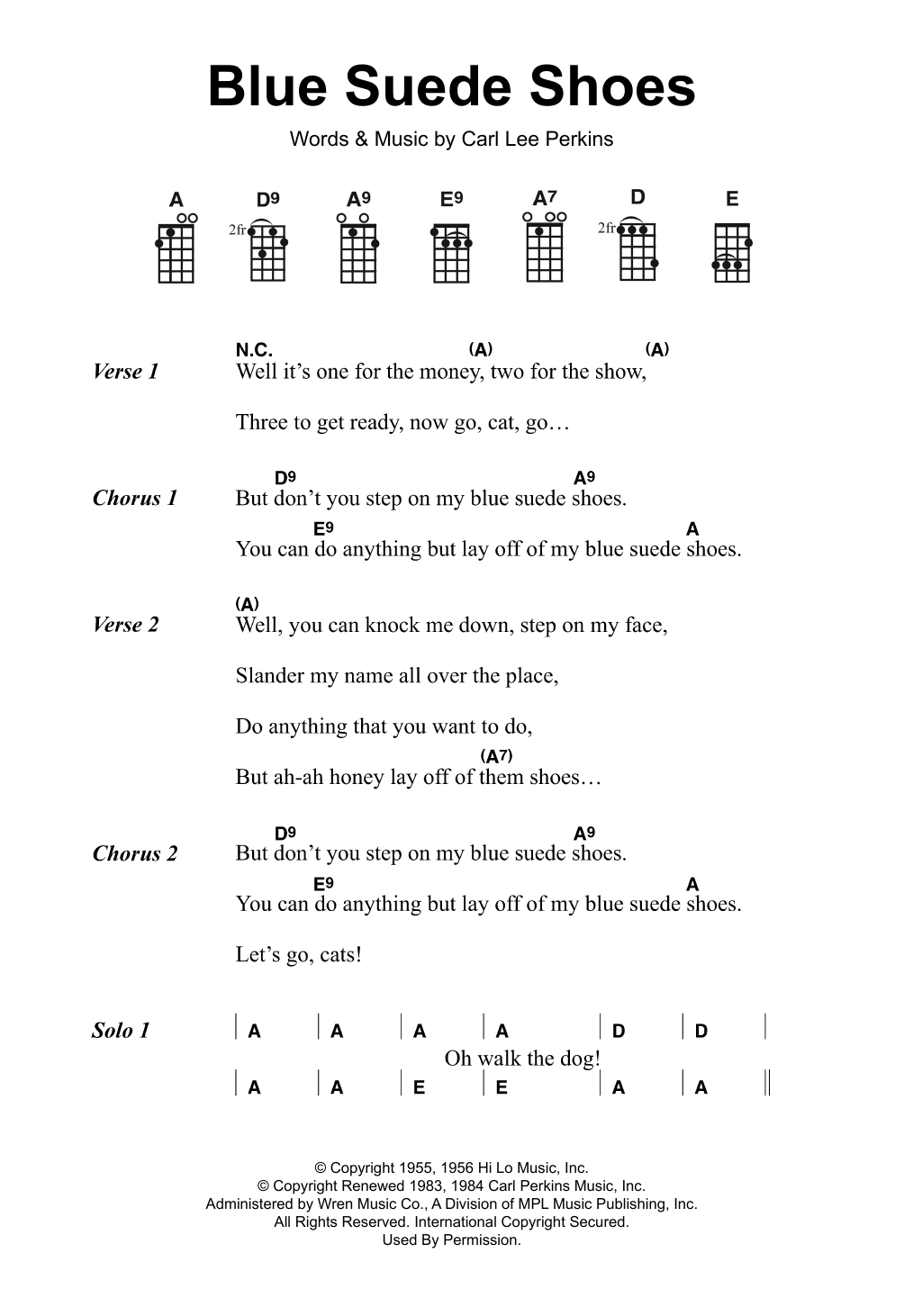 Carl Perkins - Blue Suede Shoes Lyrics | MetroLyrics