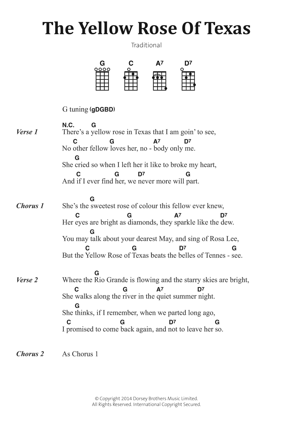 Traditional Folksong - The Yellow Rose Of Texas