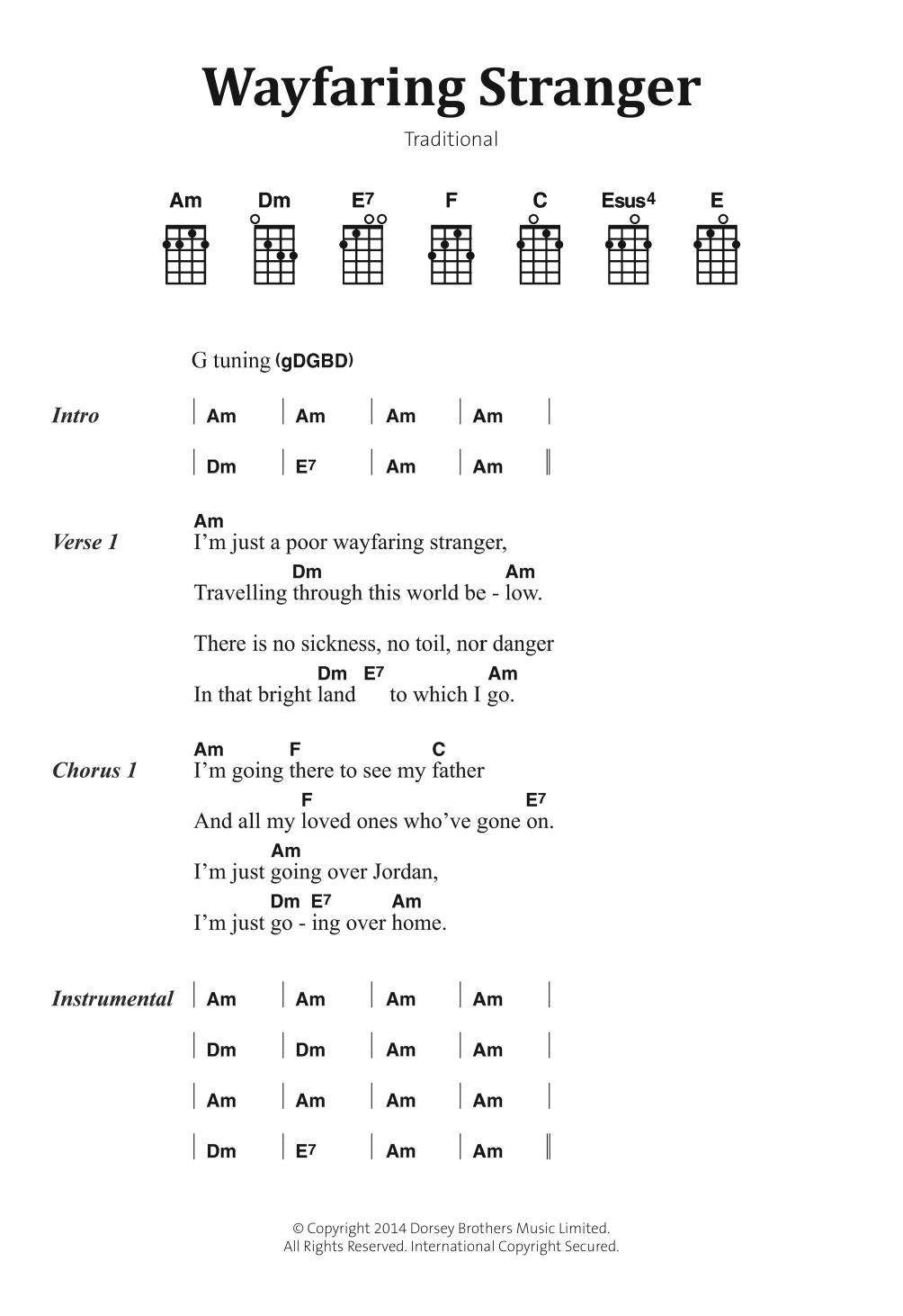 Traditional Folksong - Wayfaring Stranger