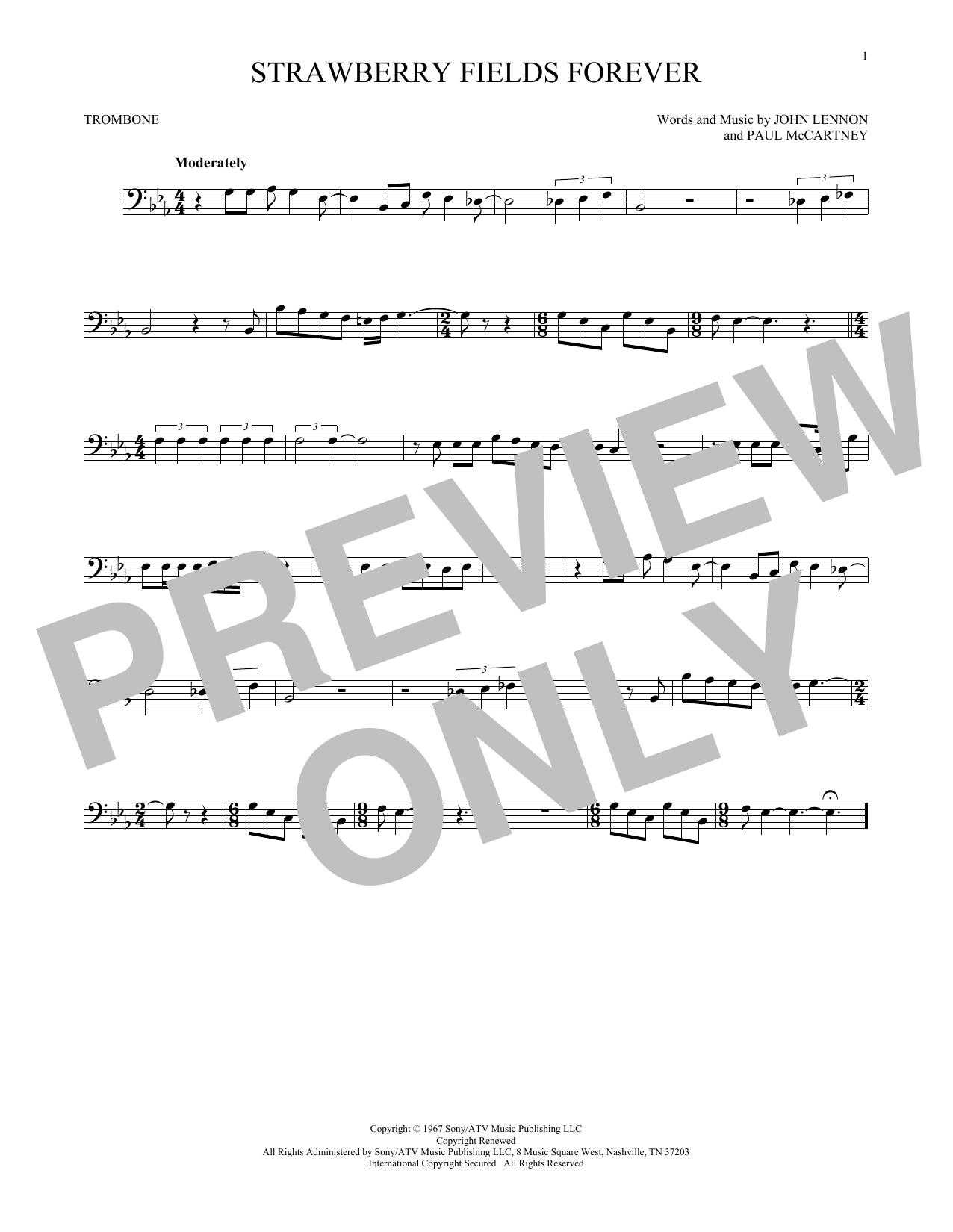Partition autre Strawberry Fields Forever de The Beatles - Trombone