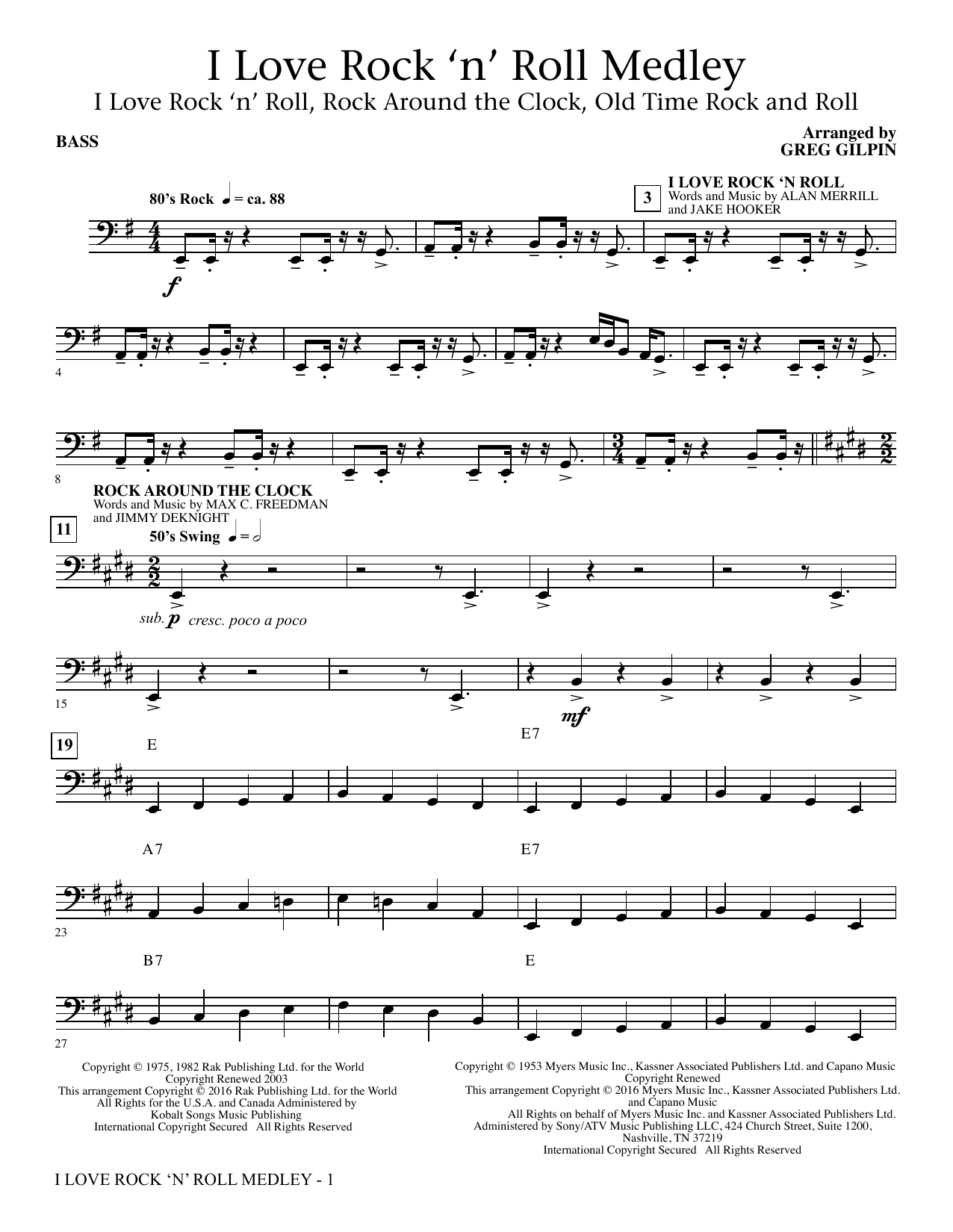 i love rock and roll sheet music pdf