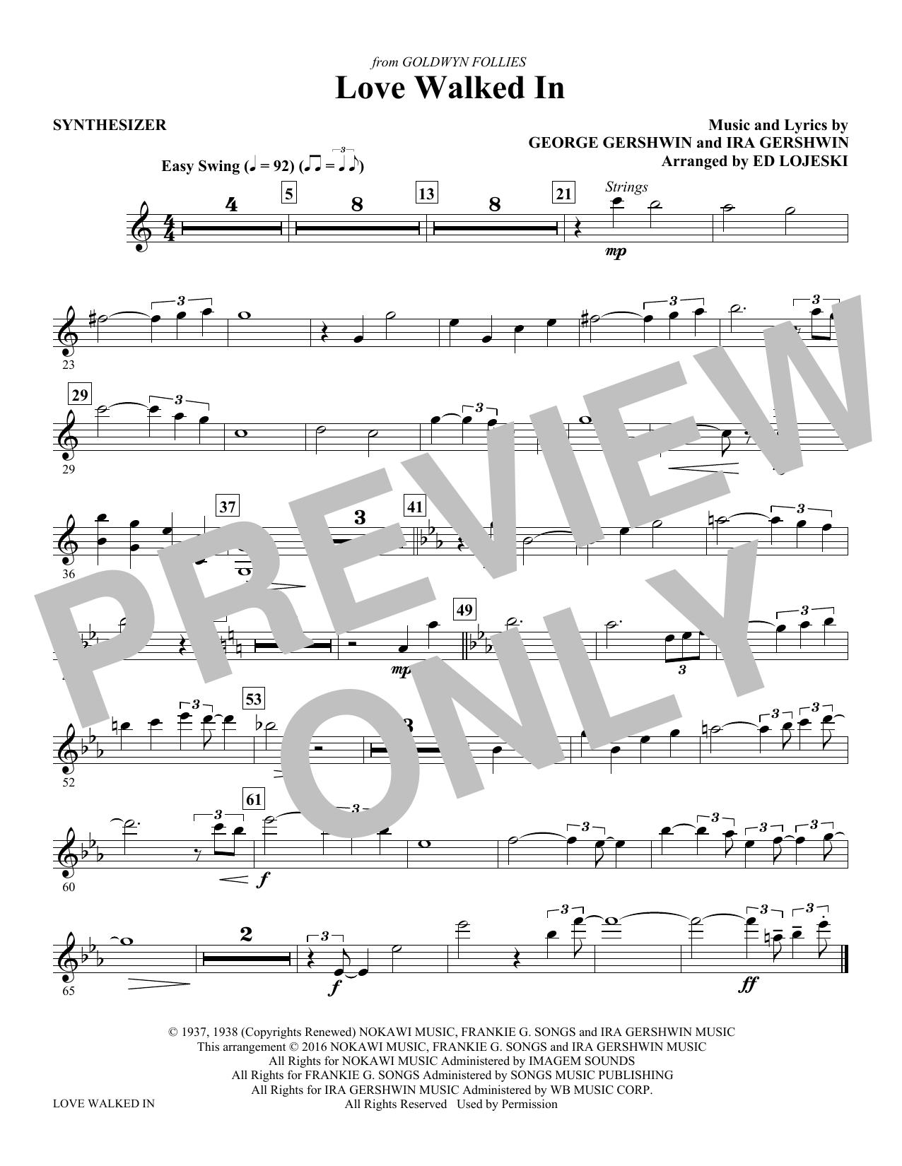 Ira Gershwin - Love Walked In - Synthesizer