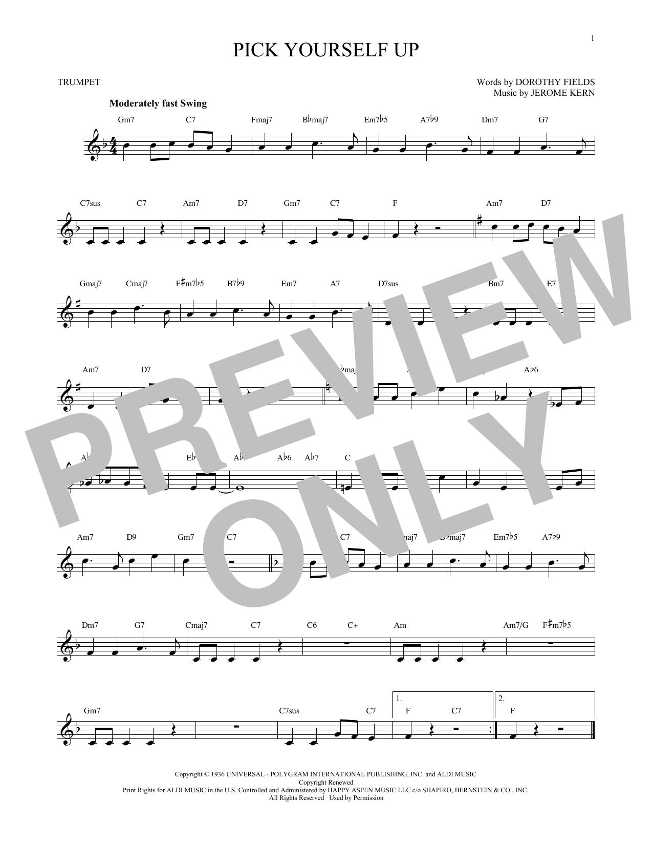 Partition autre Pick Yourself Up de Jerome Kern - Trompette