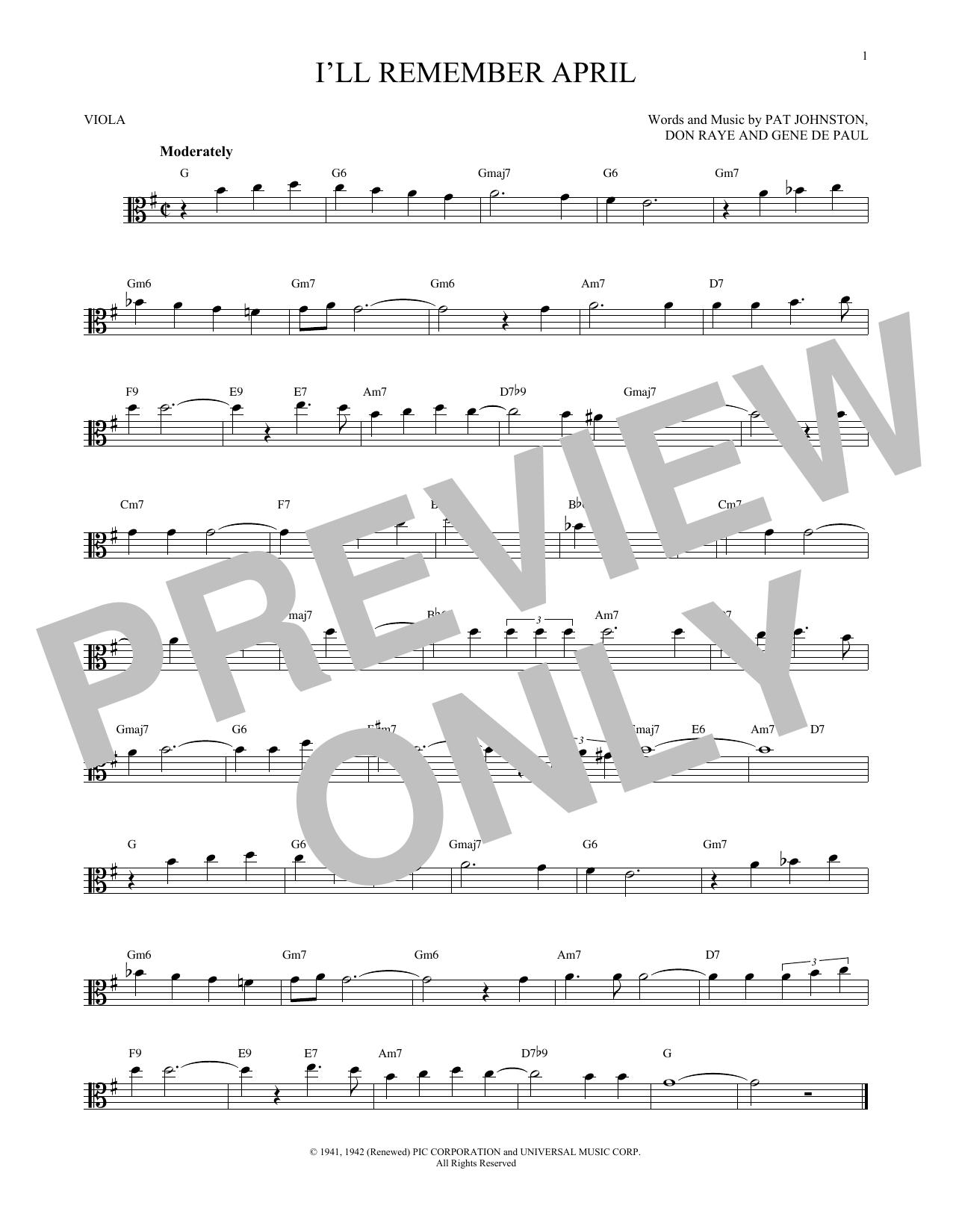 Partition autre I'll Remember April de Woody Herman & His Orchestra - Alto