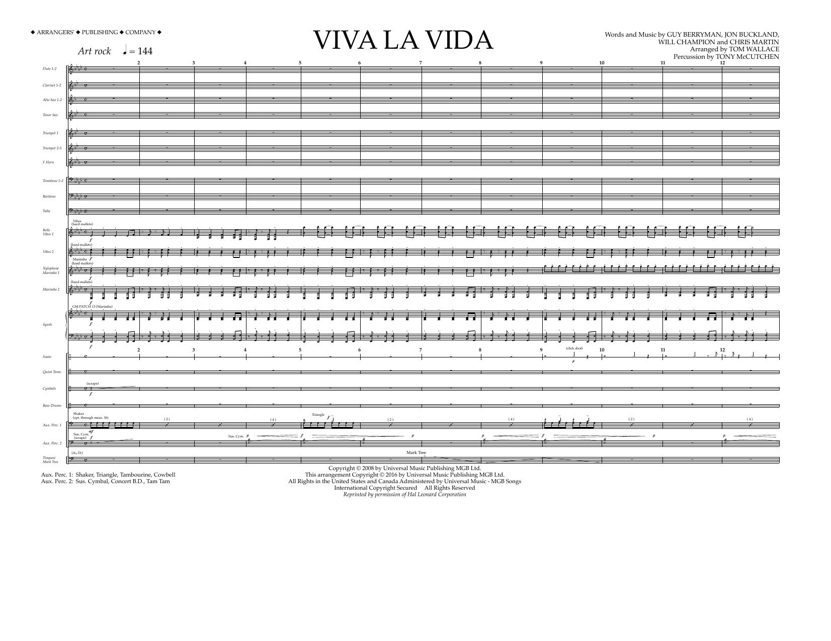 Viva la vida viva la vida full score hexwebz Choice Image