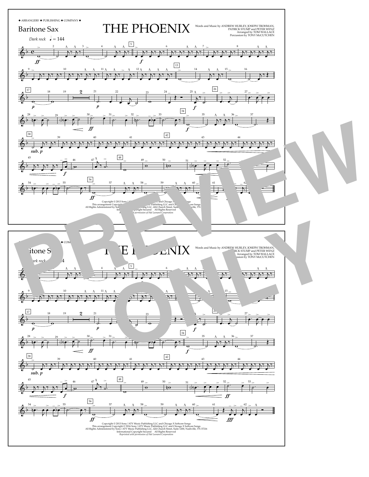 Fall Out Boy - The Phoenix - Baritone Sax
