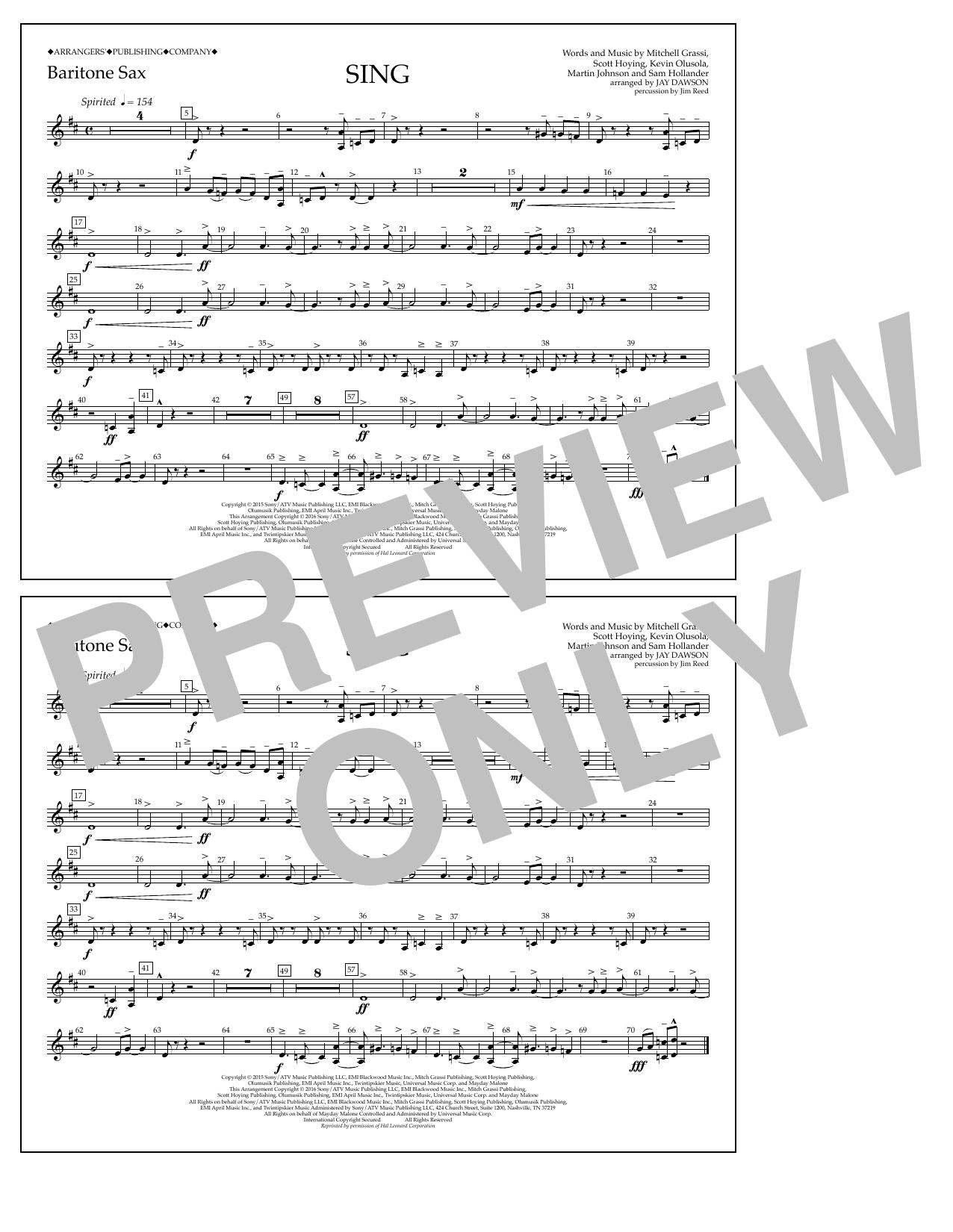 Pentatonix - Sing - Baritone Sax