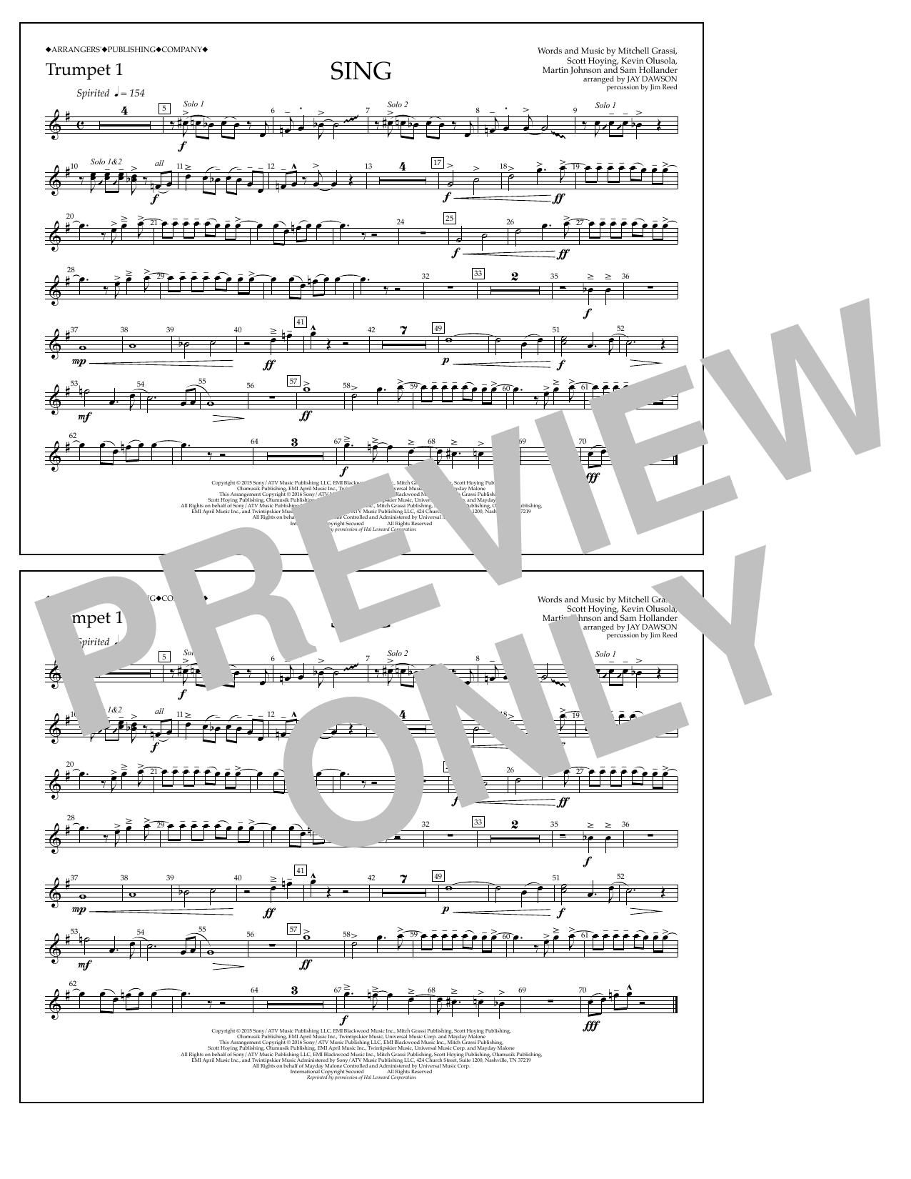 Pentatonix - Sing - Trumpet 1