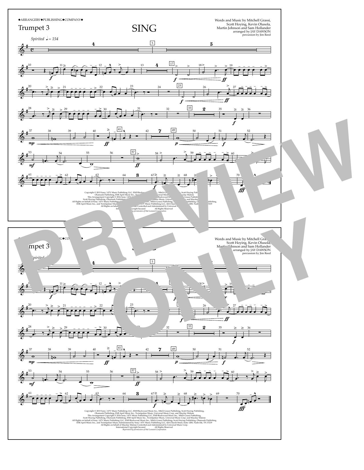 Pentatonix - Sing - Trumpet 3