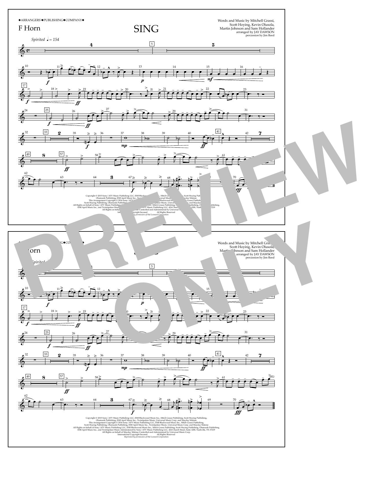Pentatonix - Sing - F Horn