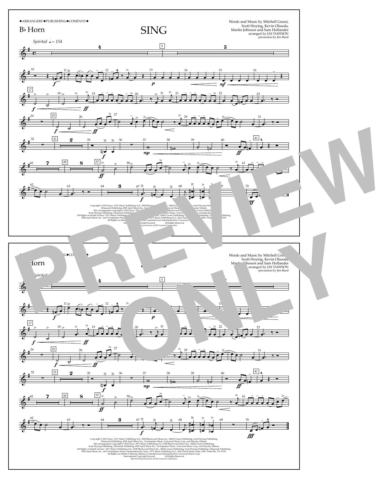 Pentatonix - Sing - Bb Horn
