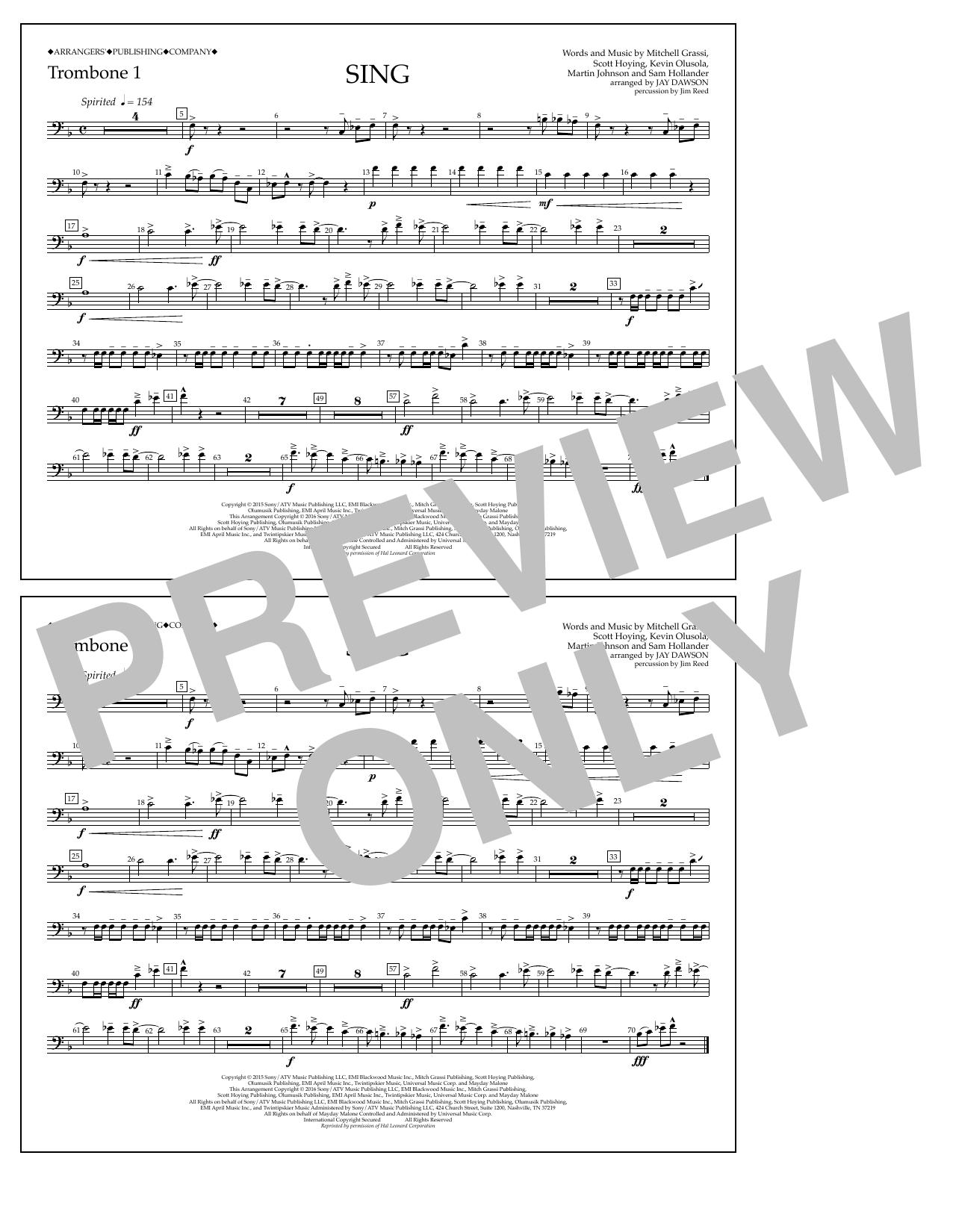 Pentatonix - Sing - Trombone 1