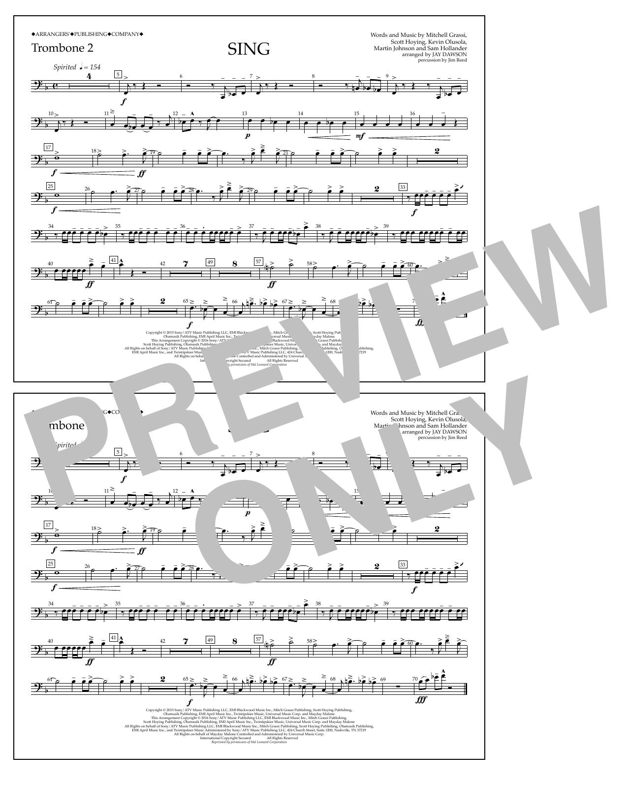 Pentatonix - Sing - Trombone 2