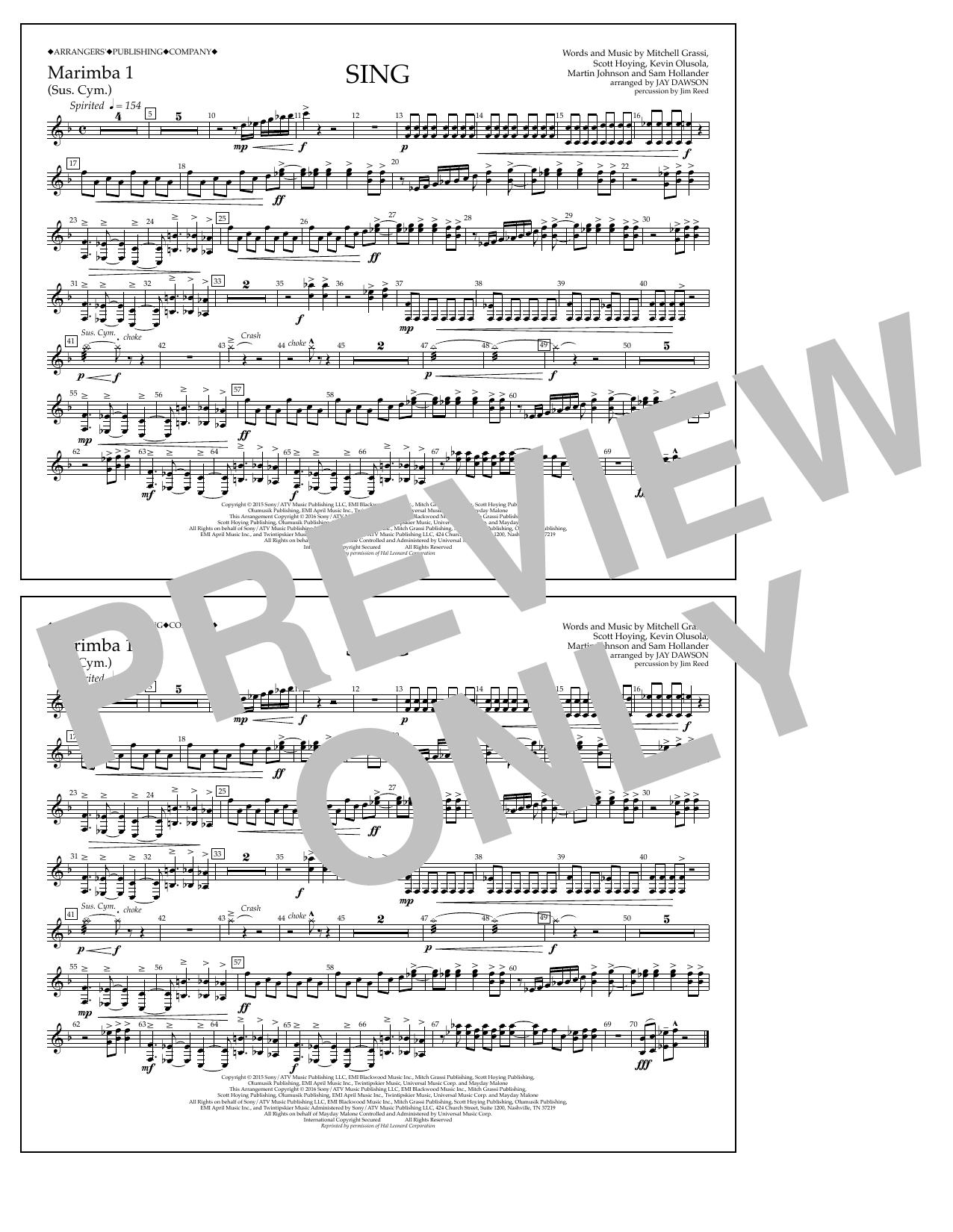 Pentatonix - Sing - Marimba 1