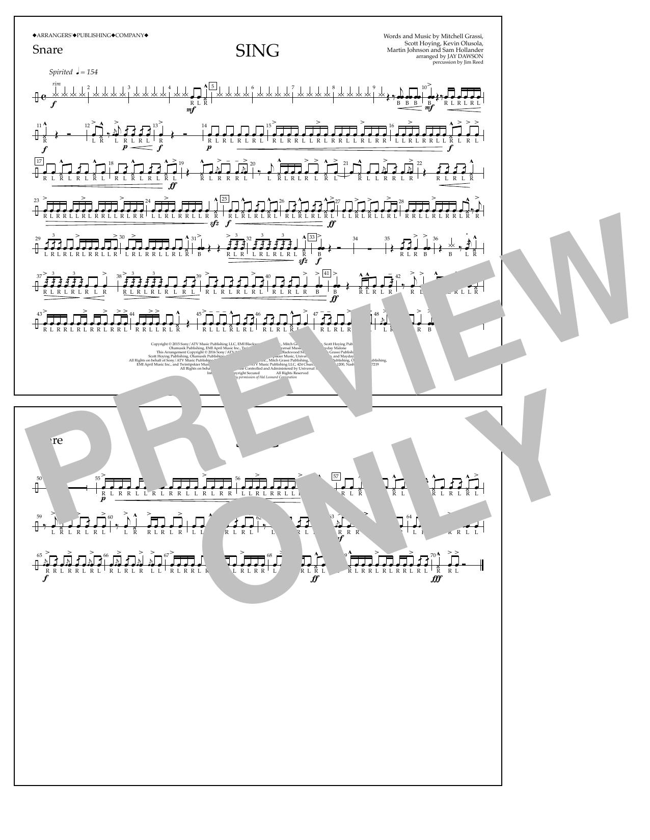 Pentatonix - Sing - Snare