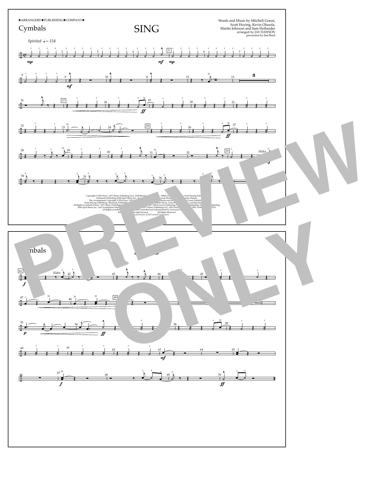Pentatonix - Sing - Cymbals