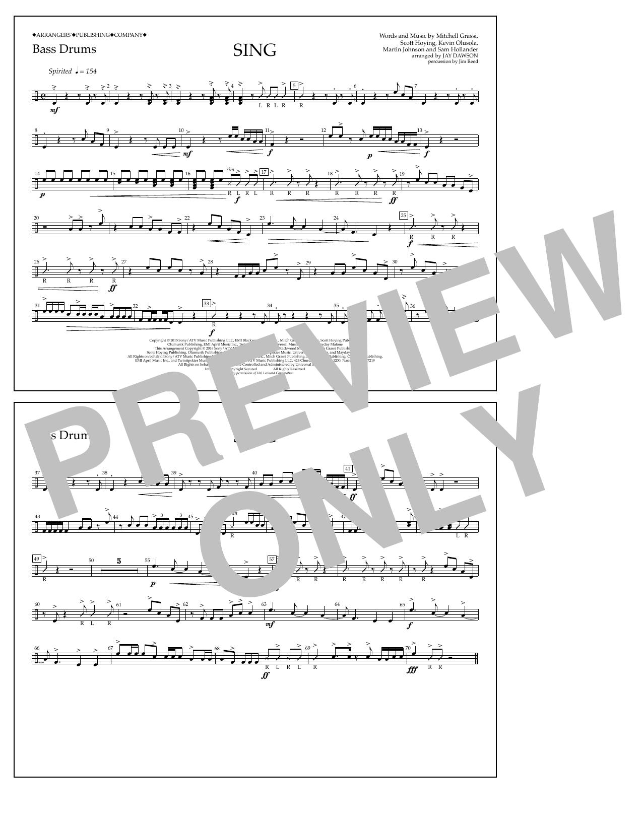 Pentatonix - Sing - Bass Drums