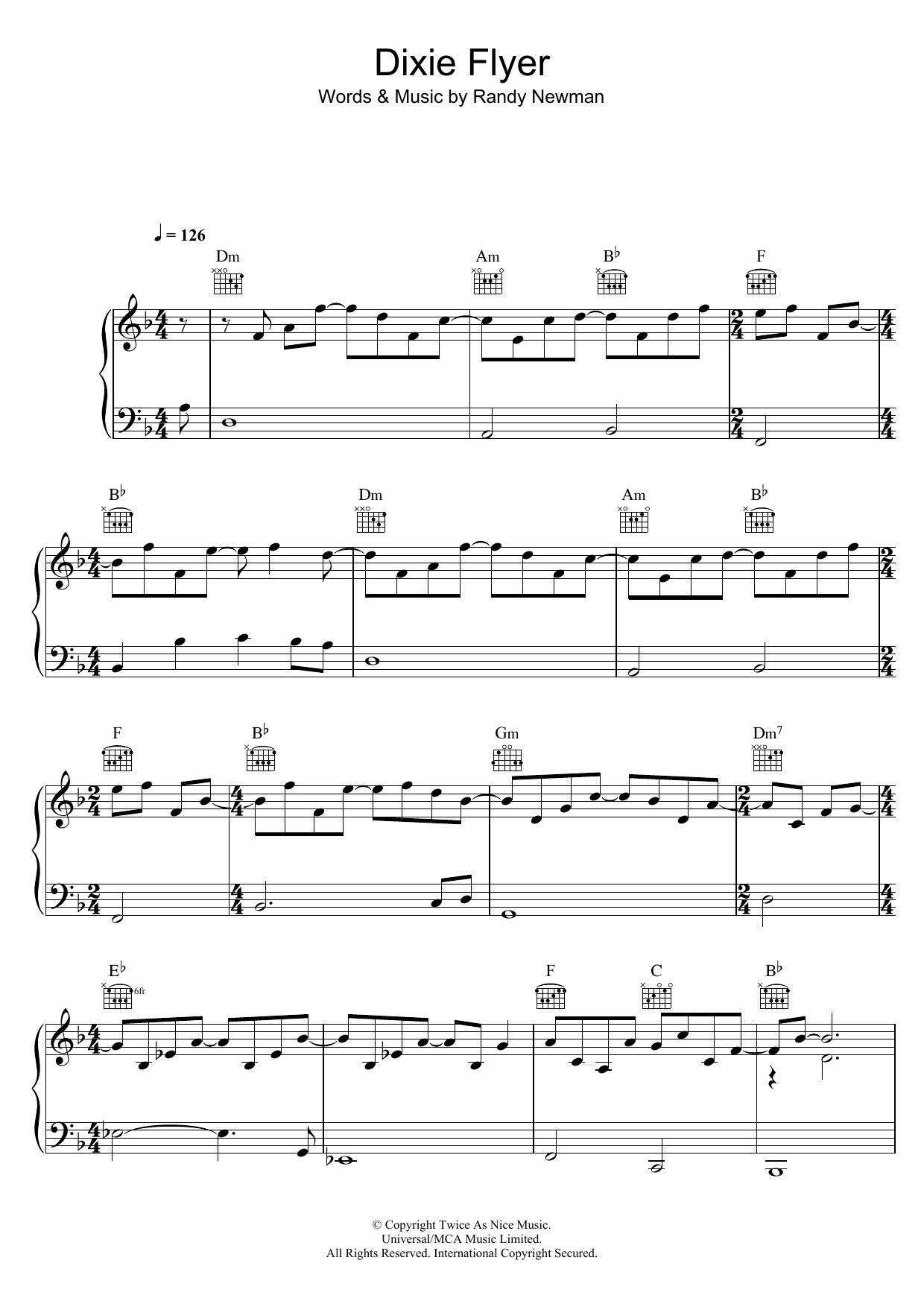 Randy Newman - Dixie Flyer