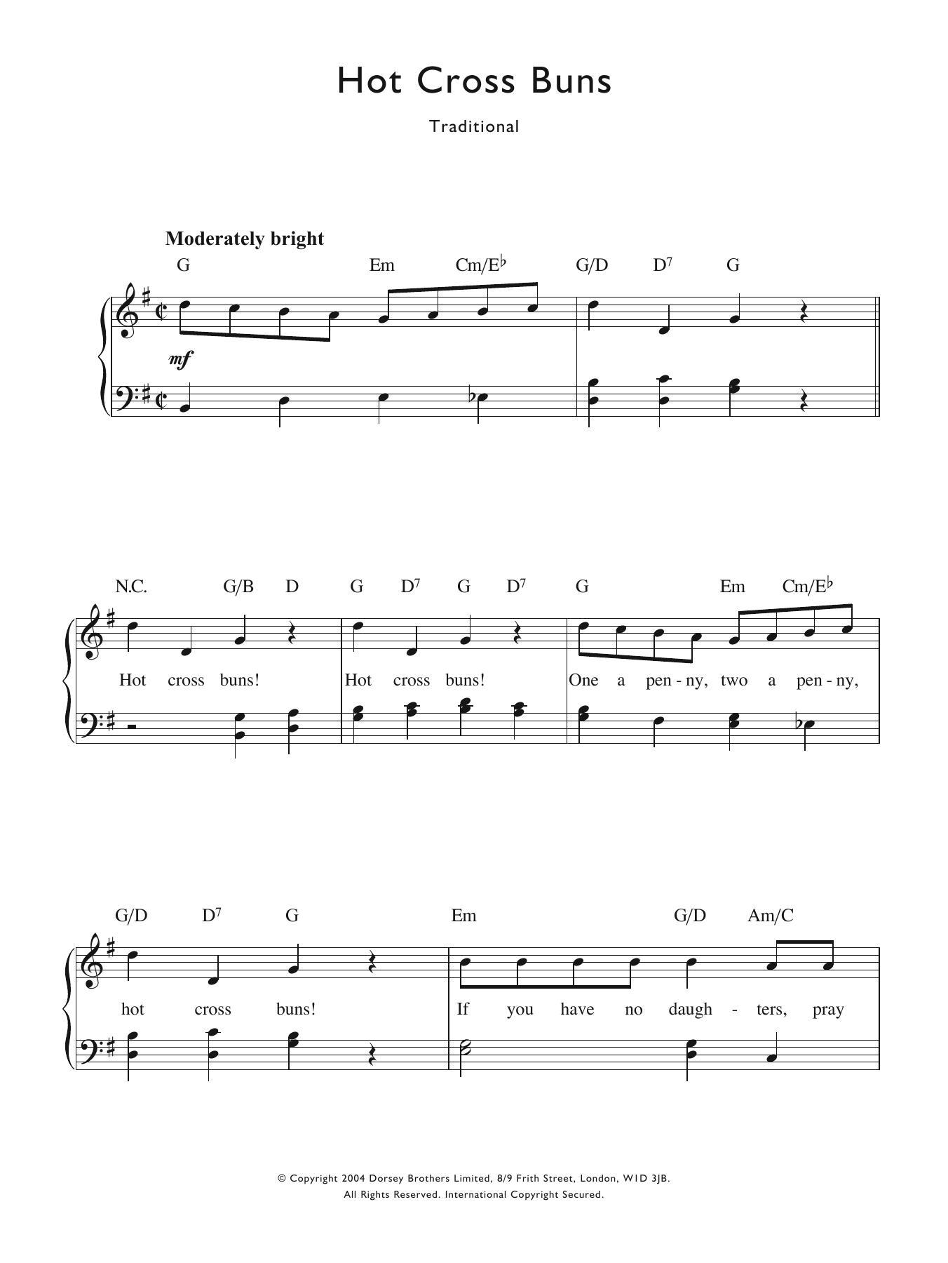 Traditional Nursery Rhyme - Hot Cross Buns