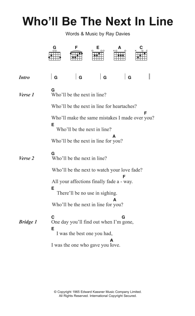 Sheet Music Digital Files To Print Licensed The Kinks Digital
