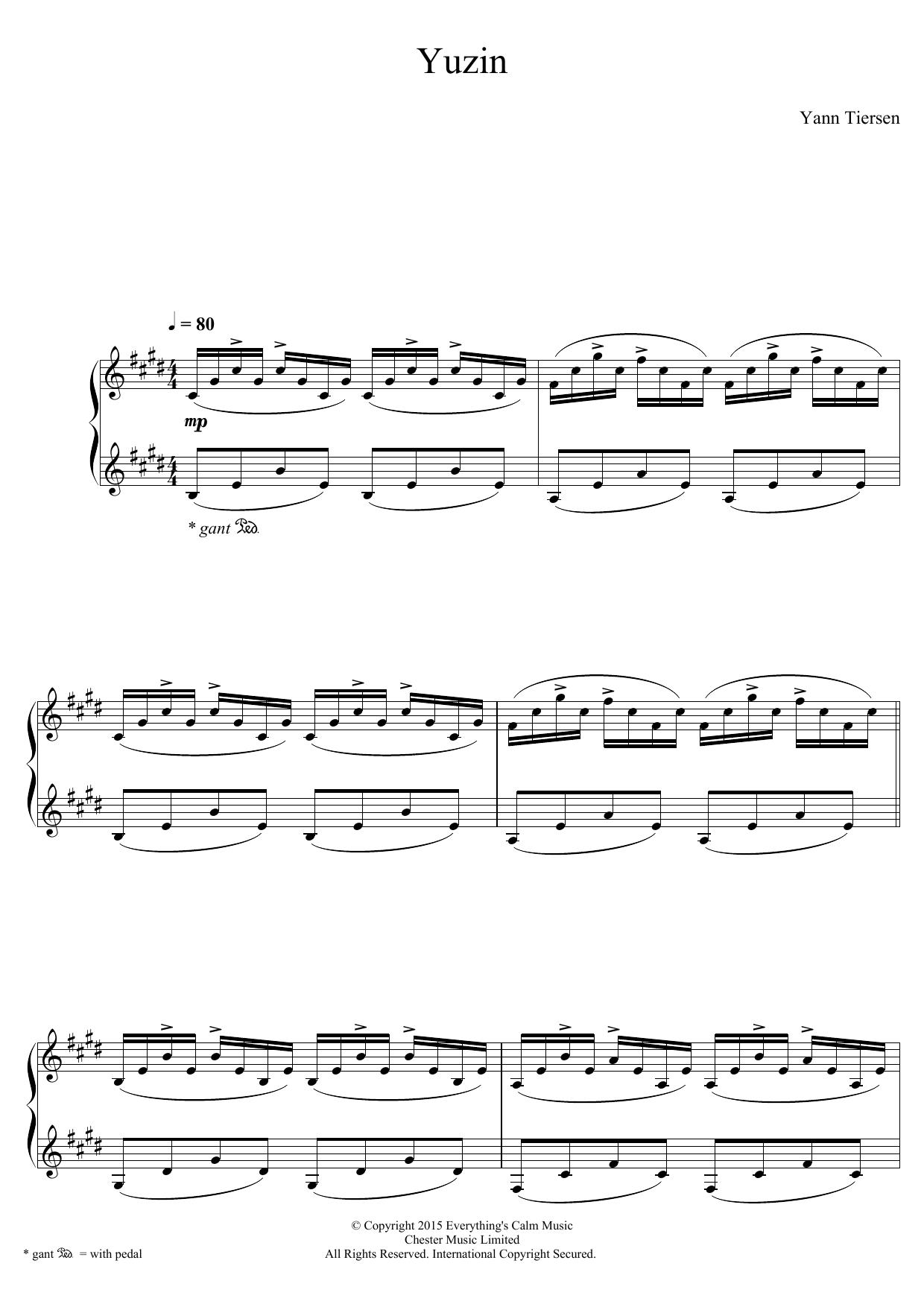 Yann Tiersen - Yuzin