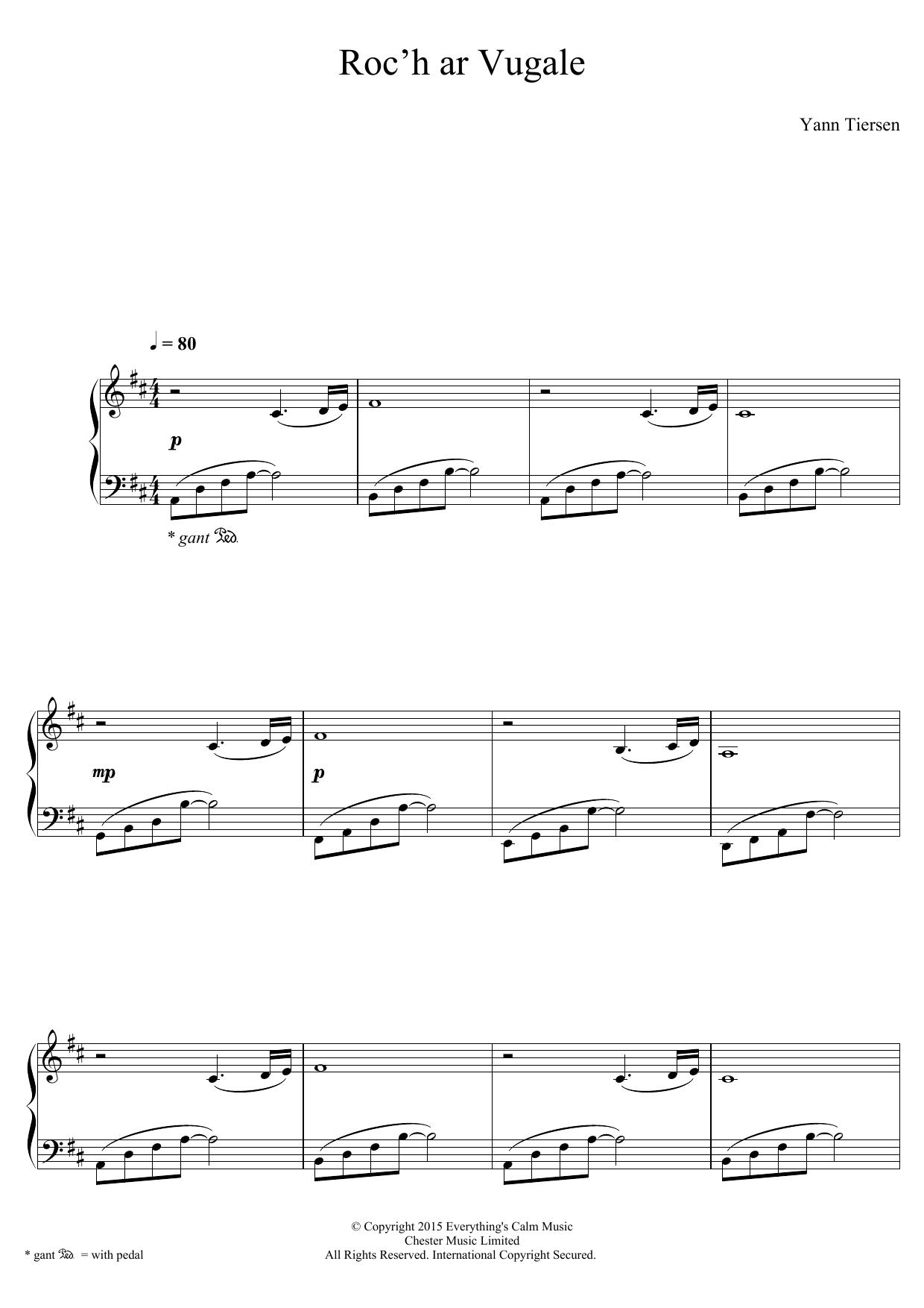 Yann Tiersen - Roc'h Ar Vugale