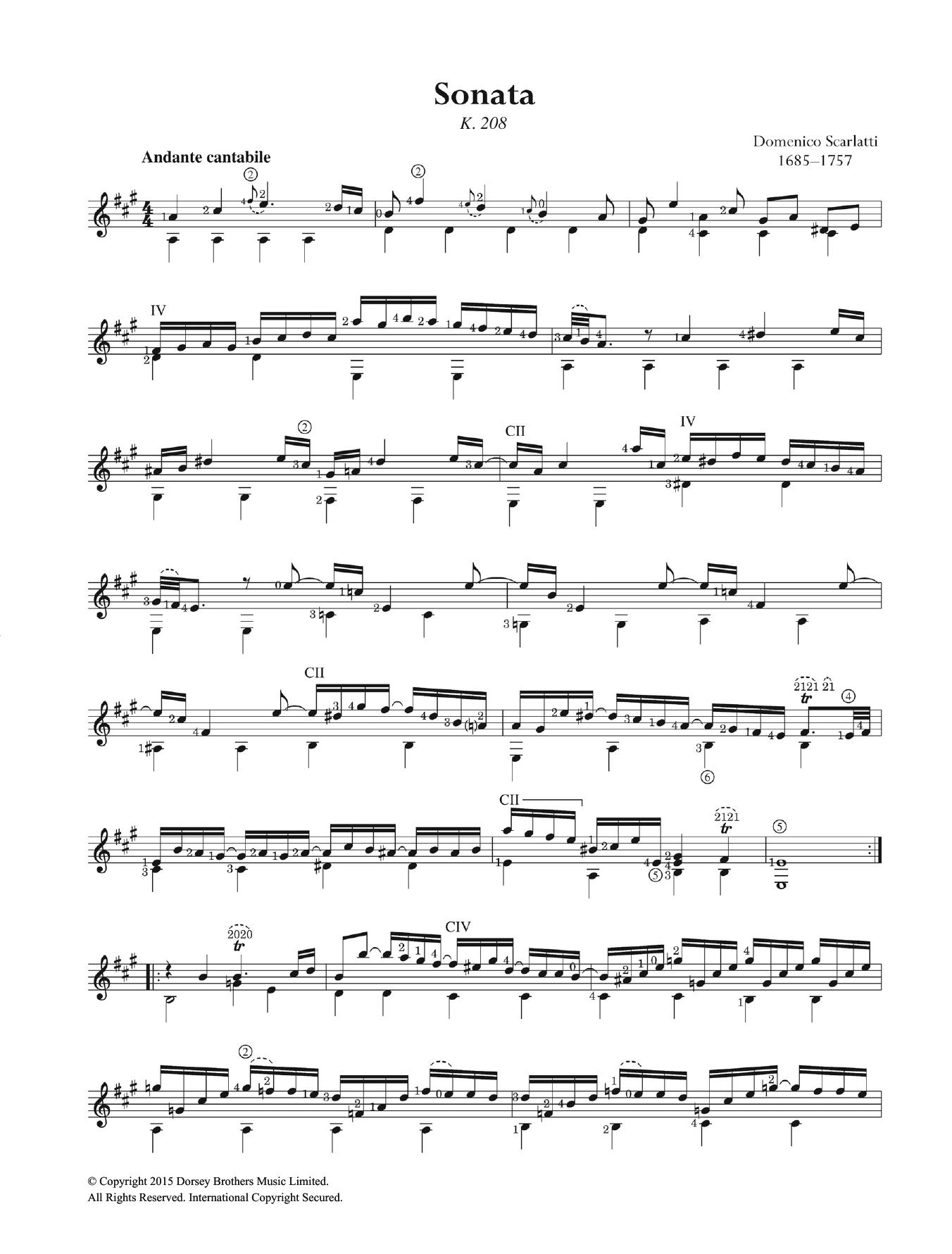 Domenico Scarlatti - Sonata K.208