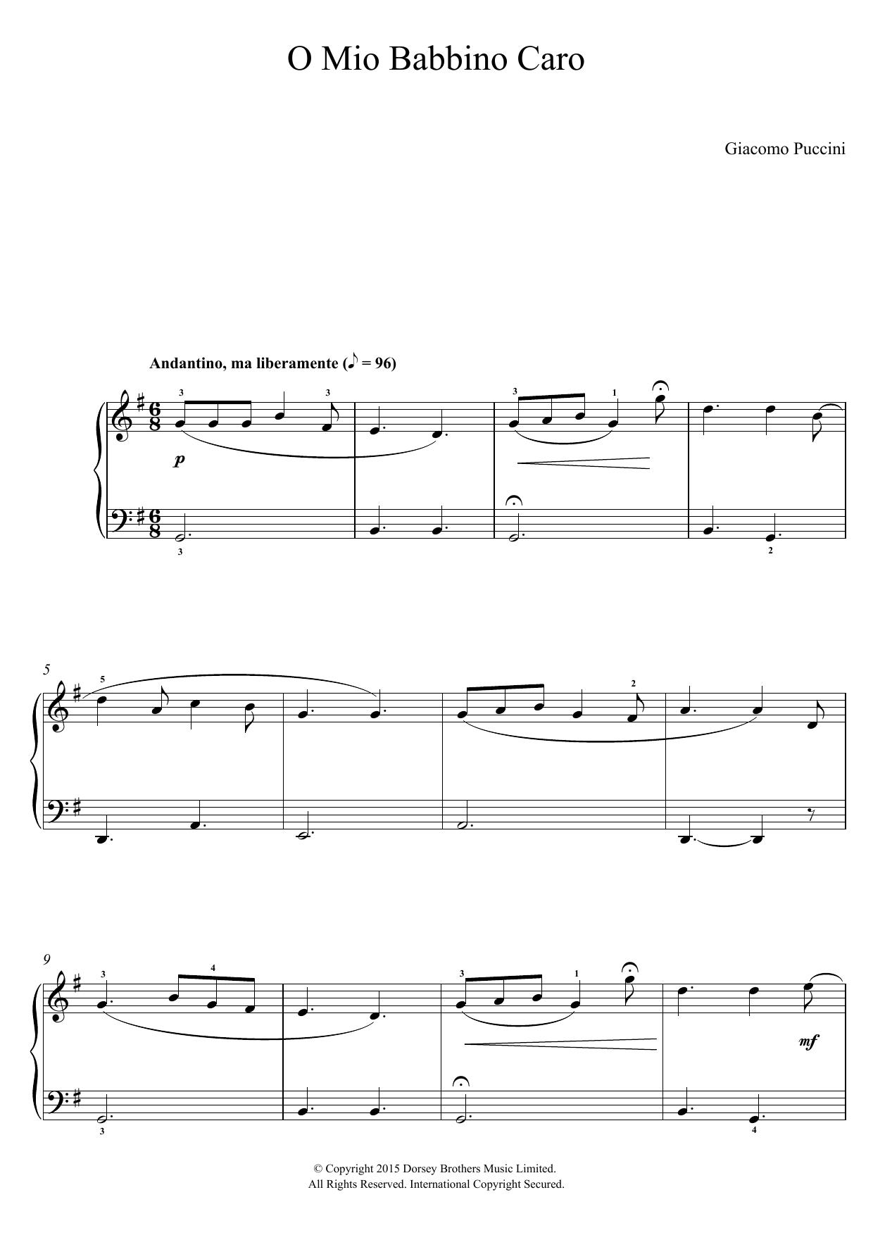 Giacomo Puccini - O Mio Babbino Caro (from Gianni Schicchi)