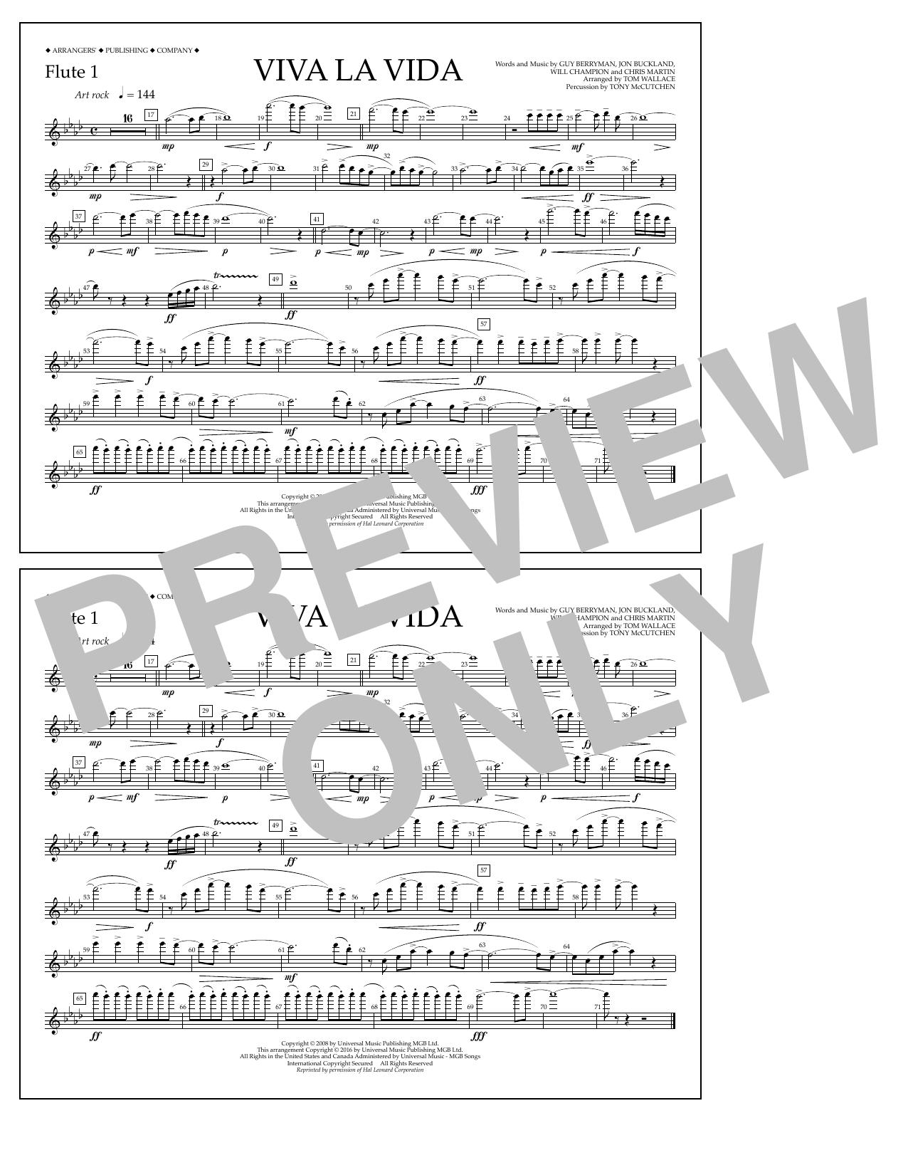 Coldplay - Viva La Vida - Flute 1