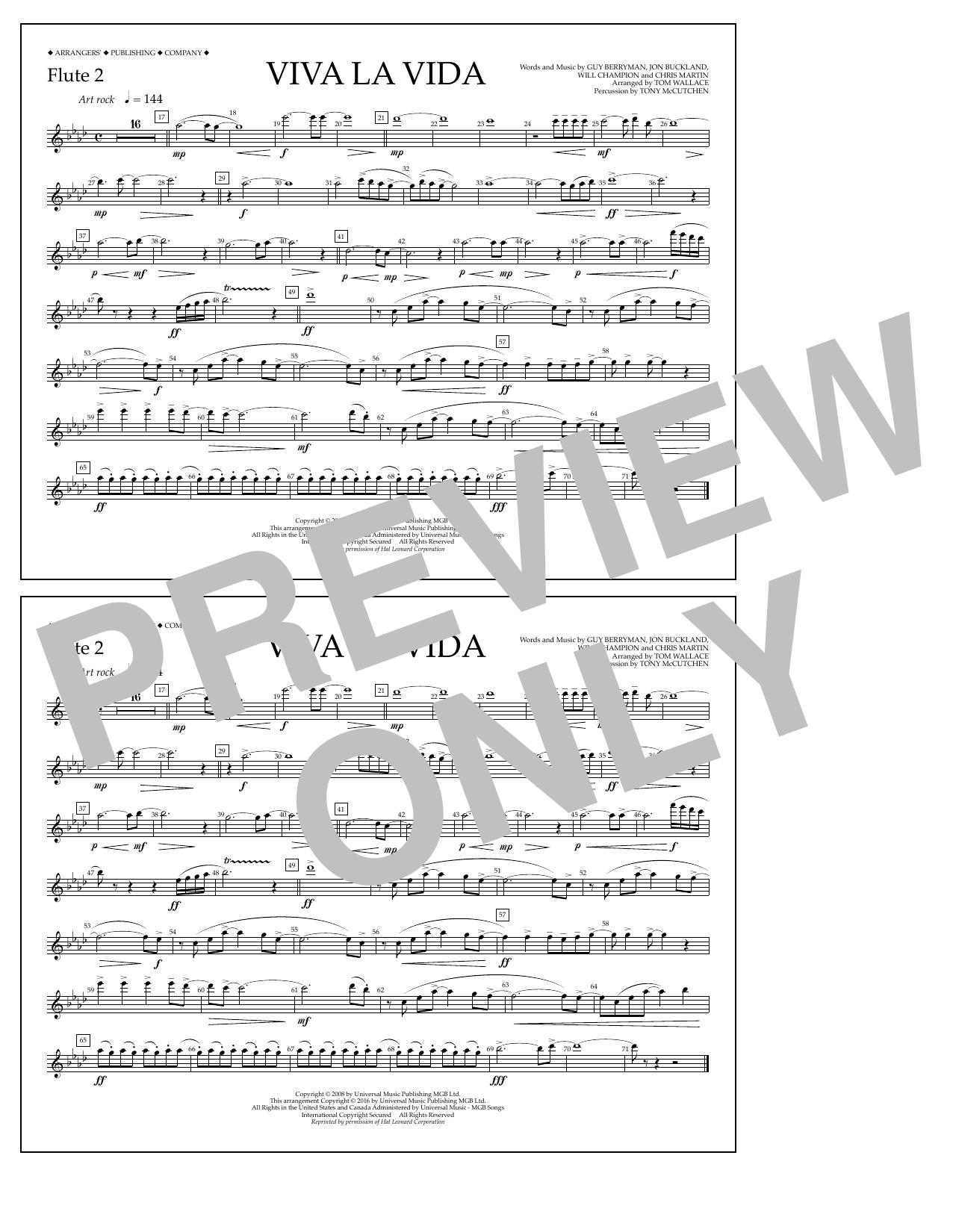 Coldplay - Viva La Vida - Flute 2