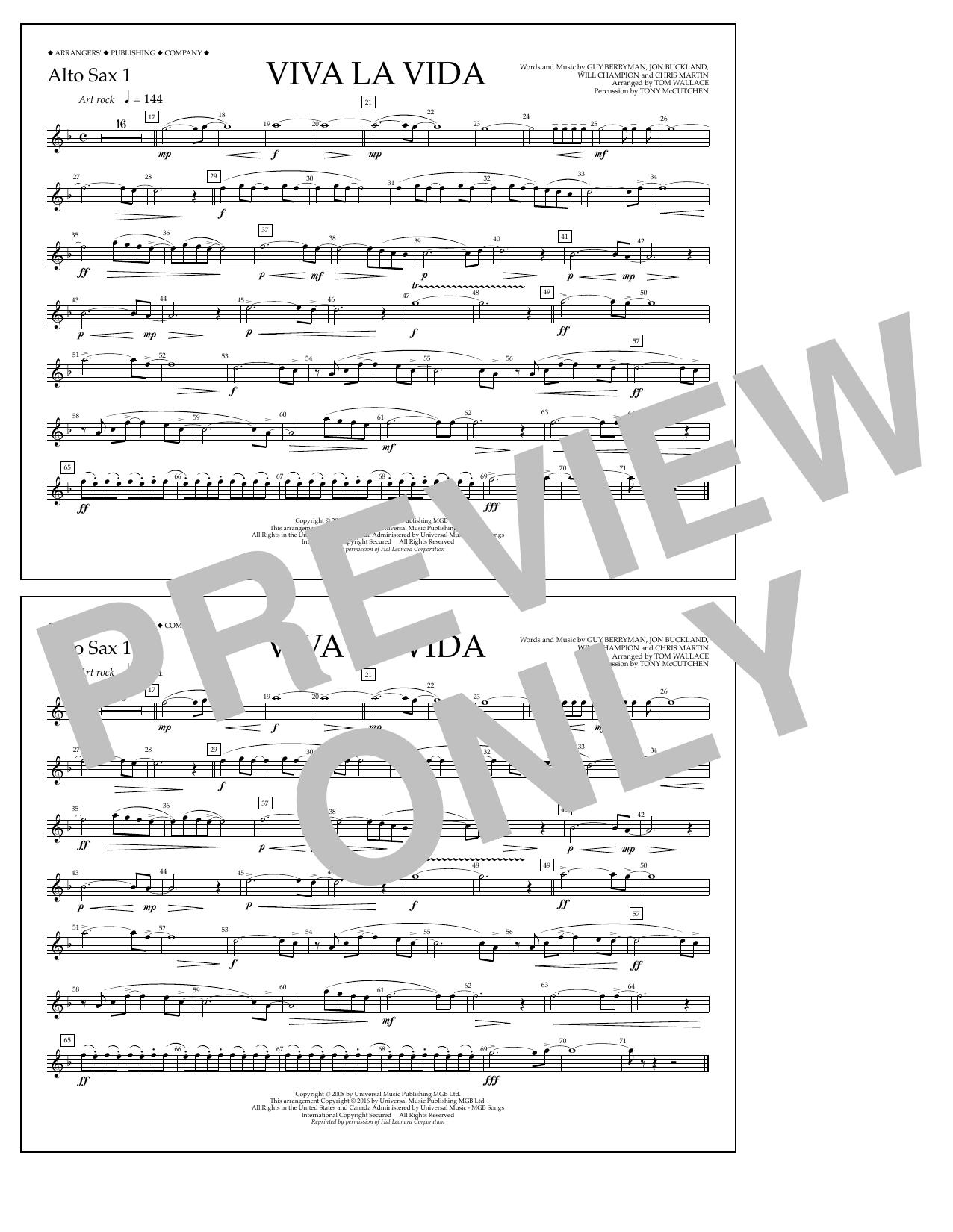 Coldplay - Viva La Vida - Alto Sax 1