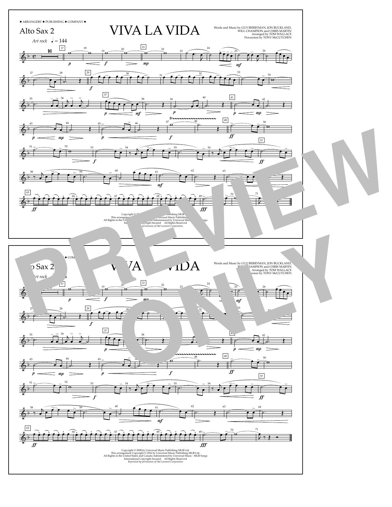 Coldplay - Viva La Vida - Alto Sax 2