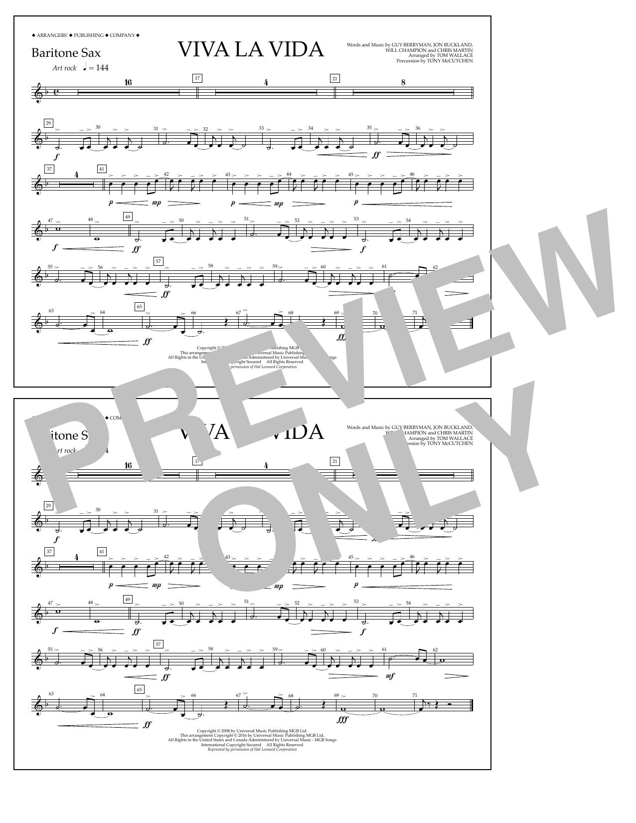 Coldplay - Viva La Vida - Baritone Sax