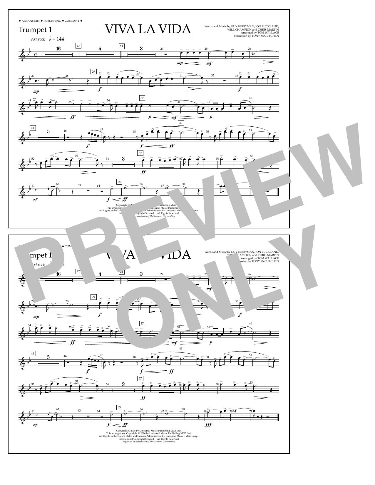 Coldplay - Viva La Vida - Trumpet 1