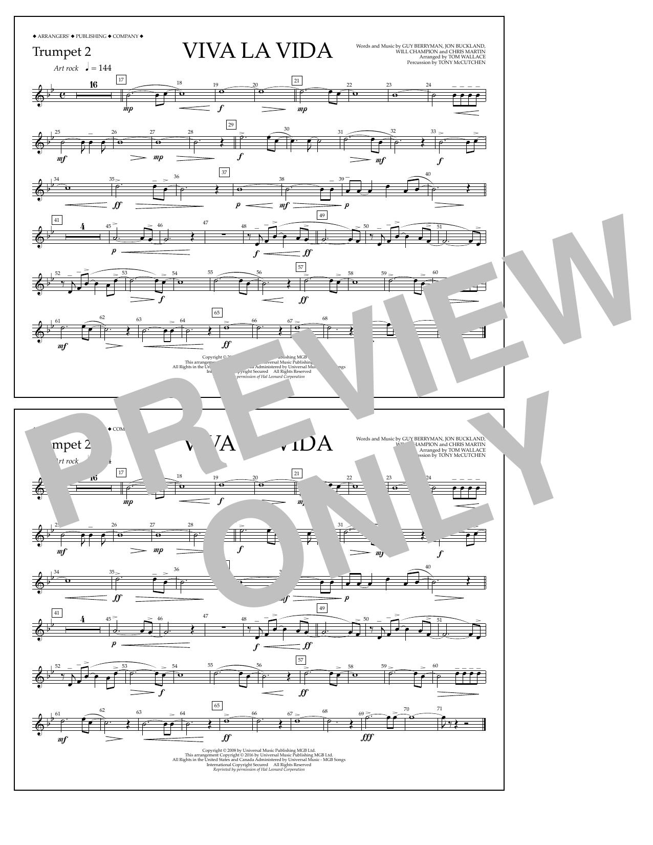 Coldplay - Viva La Vida - Trumpet 2