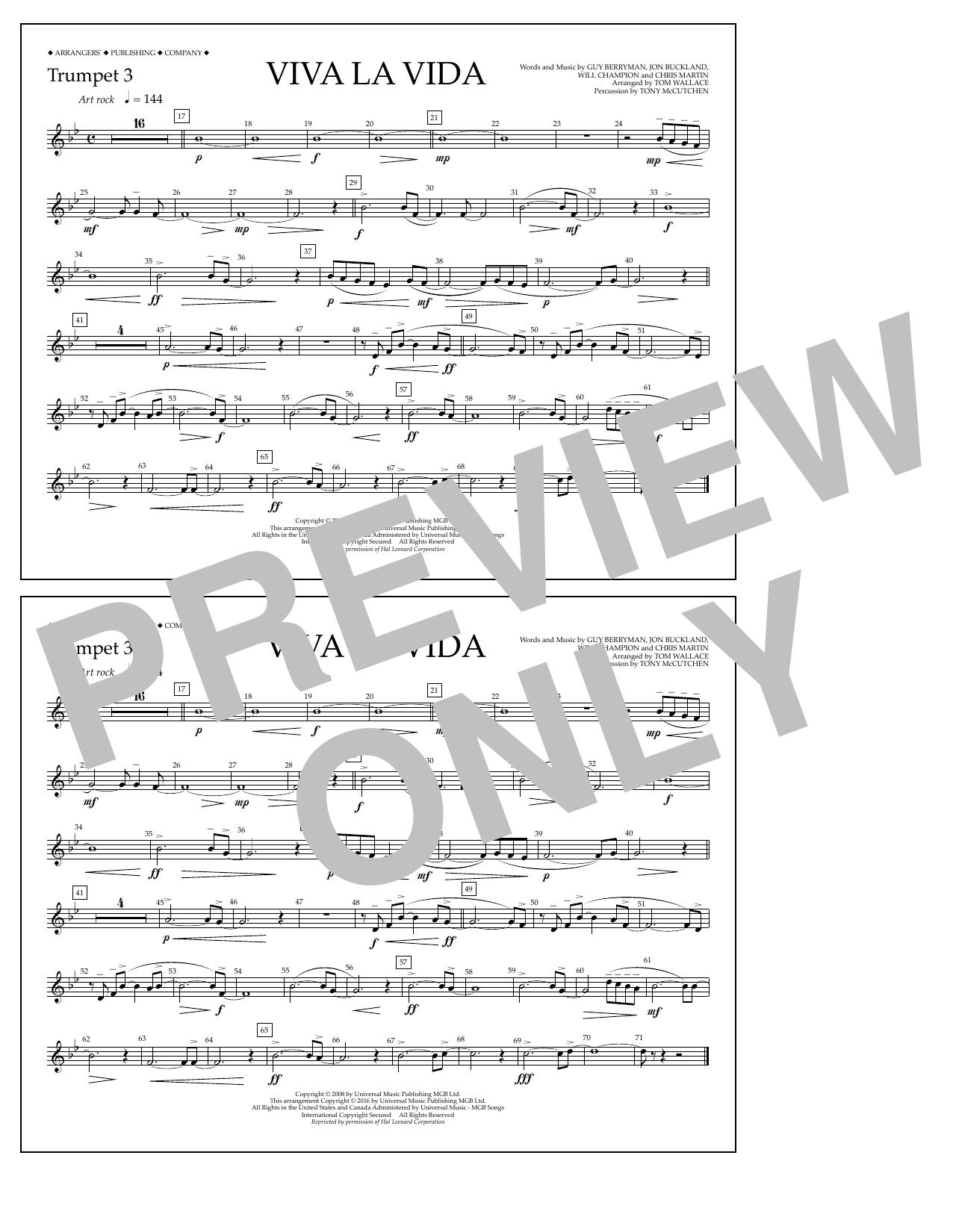 Coldplay - Viva La Vida - Trumpet 3