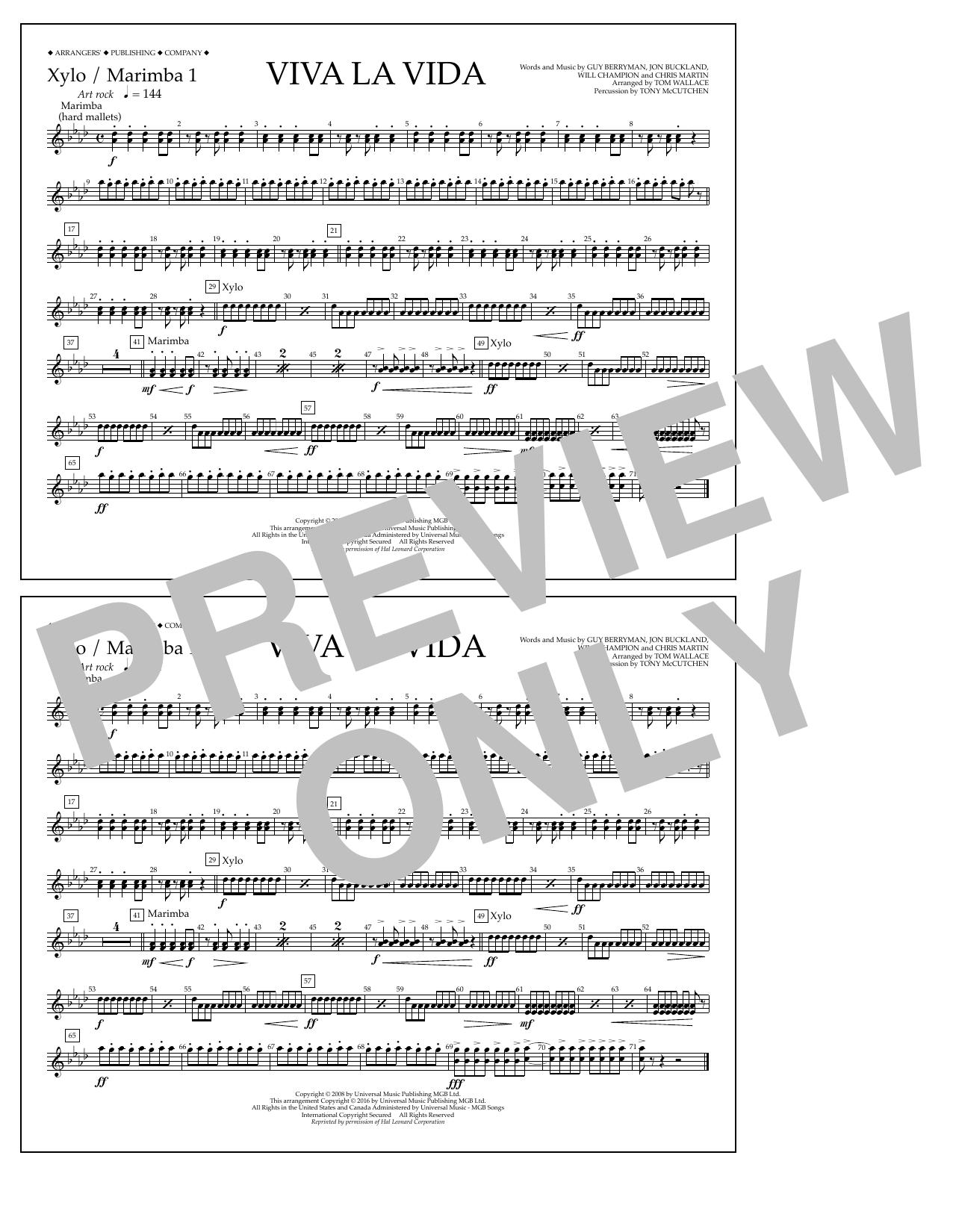 Coldplay - Viva La Vida - Xylo./Marimba 1