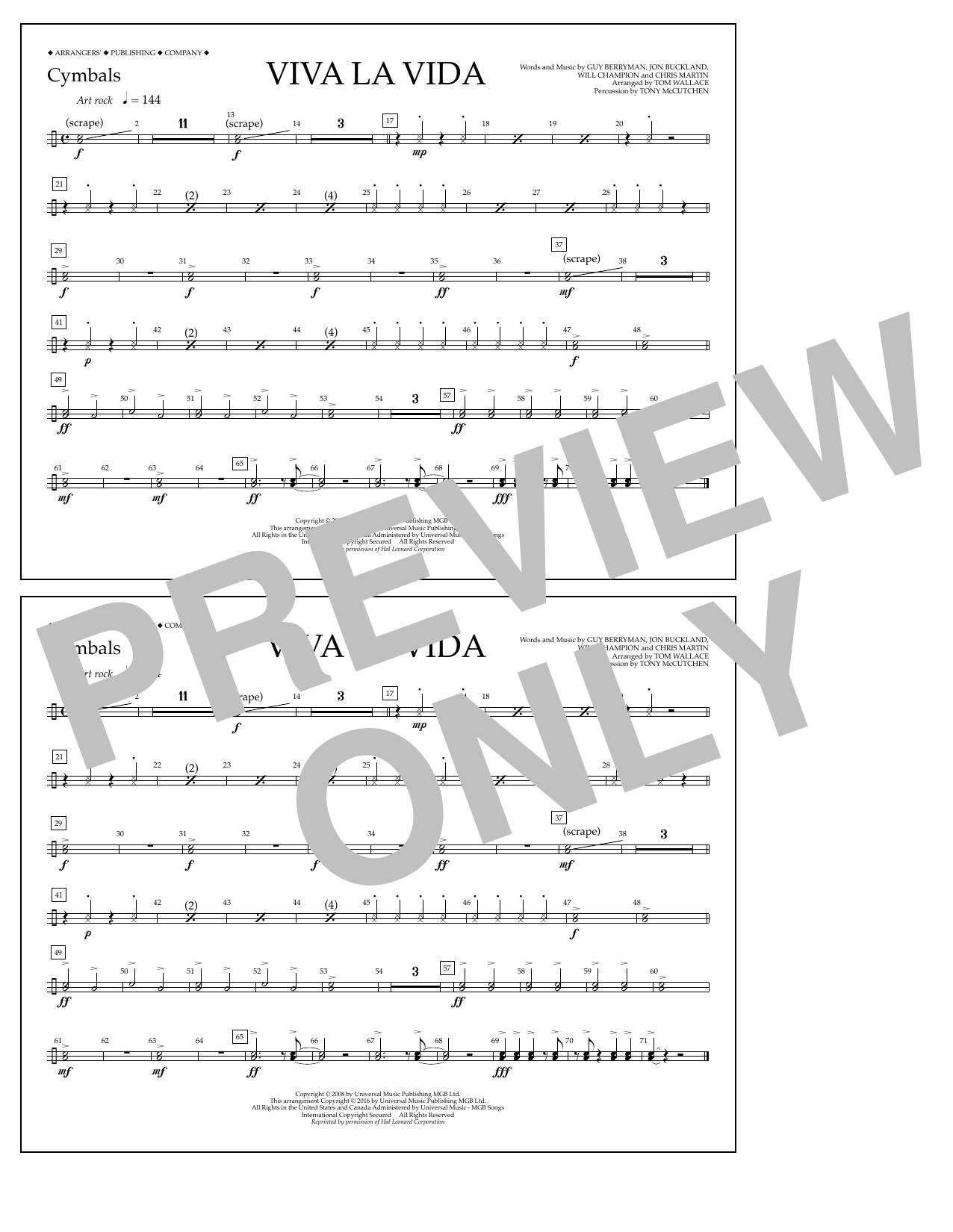 Coldplay - Viva La Vida - Cymbals