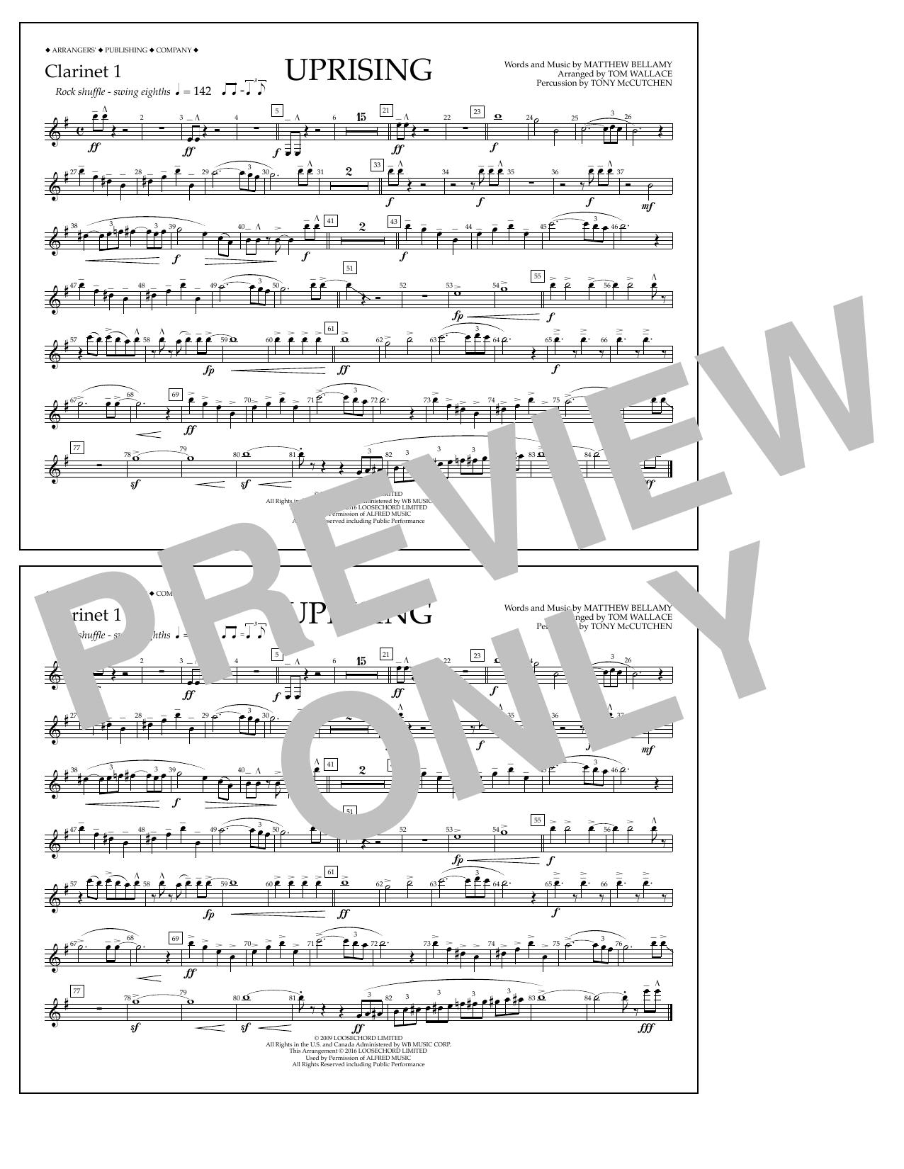 Muse - Uprising - Clarinet 1