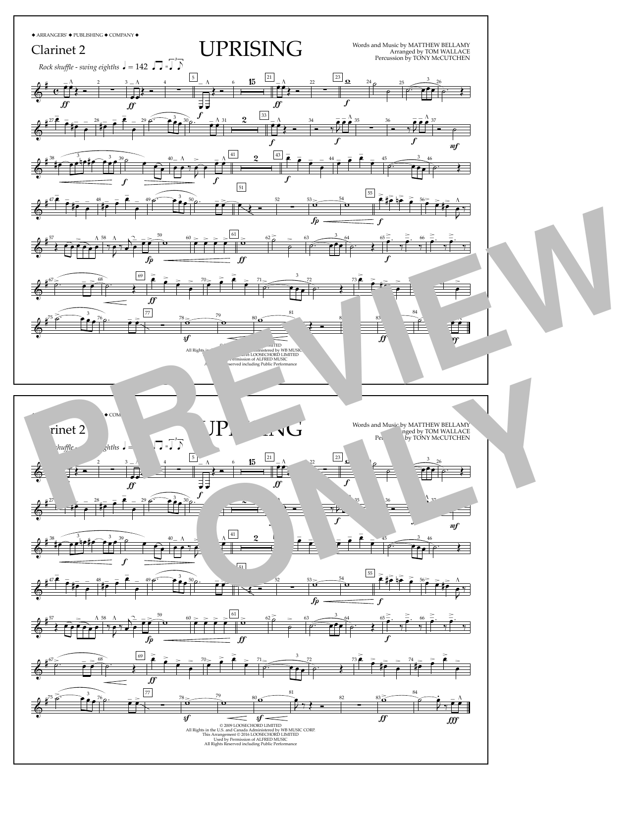 Muse - Uprising - Clarinet 2