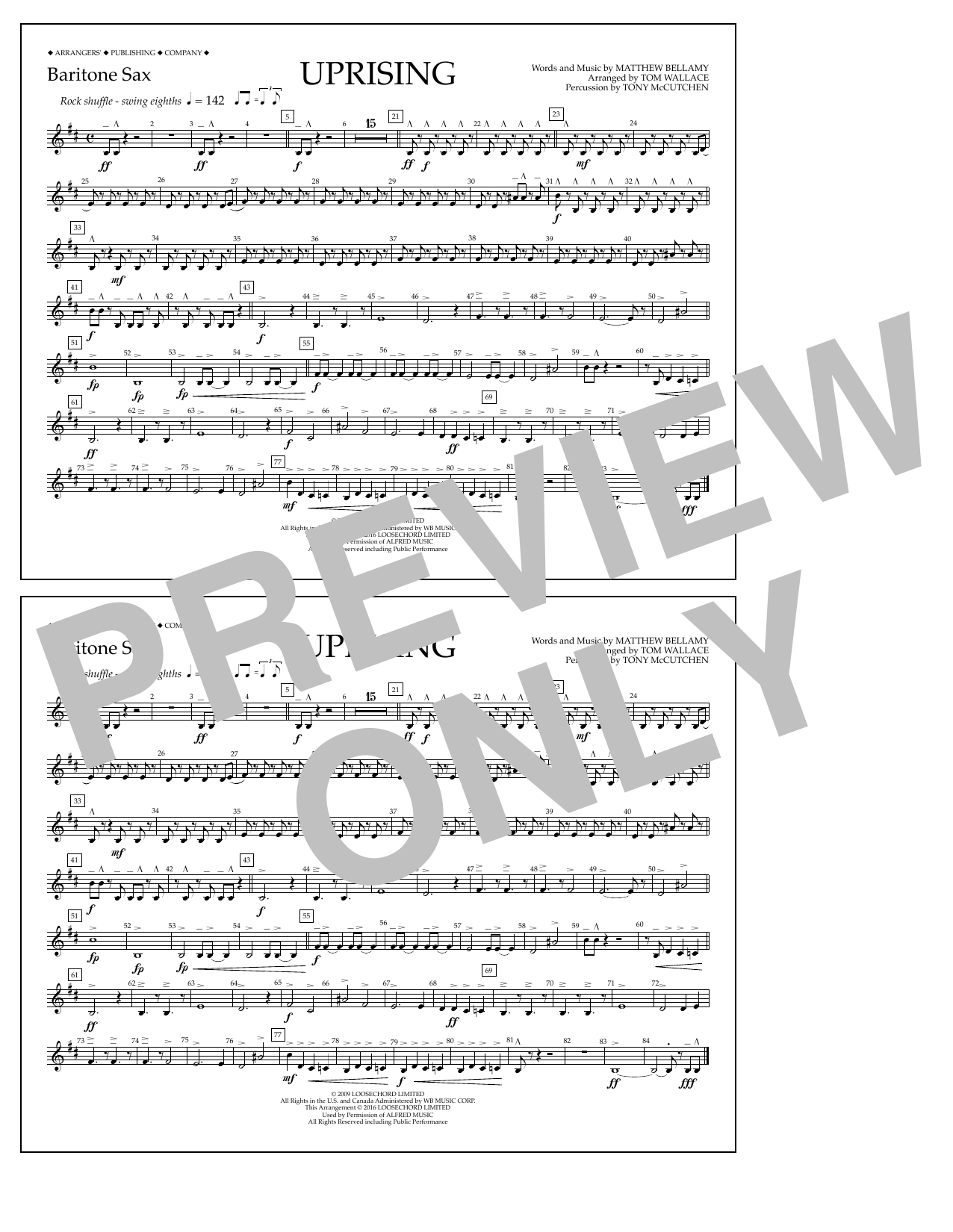 Muse - Uprising - Baritone Sax