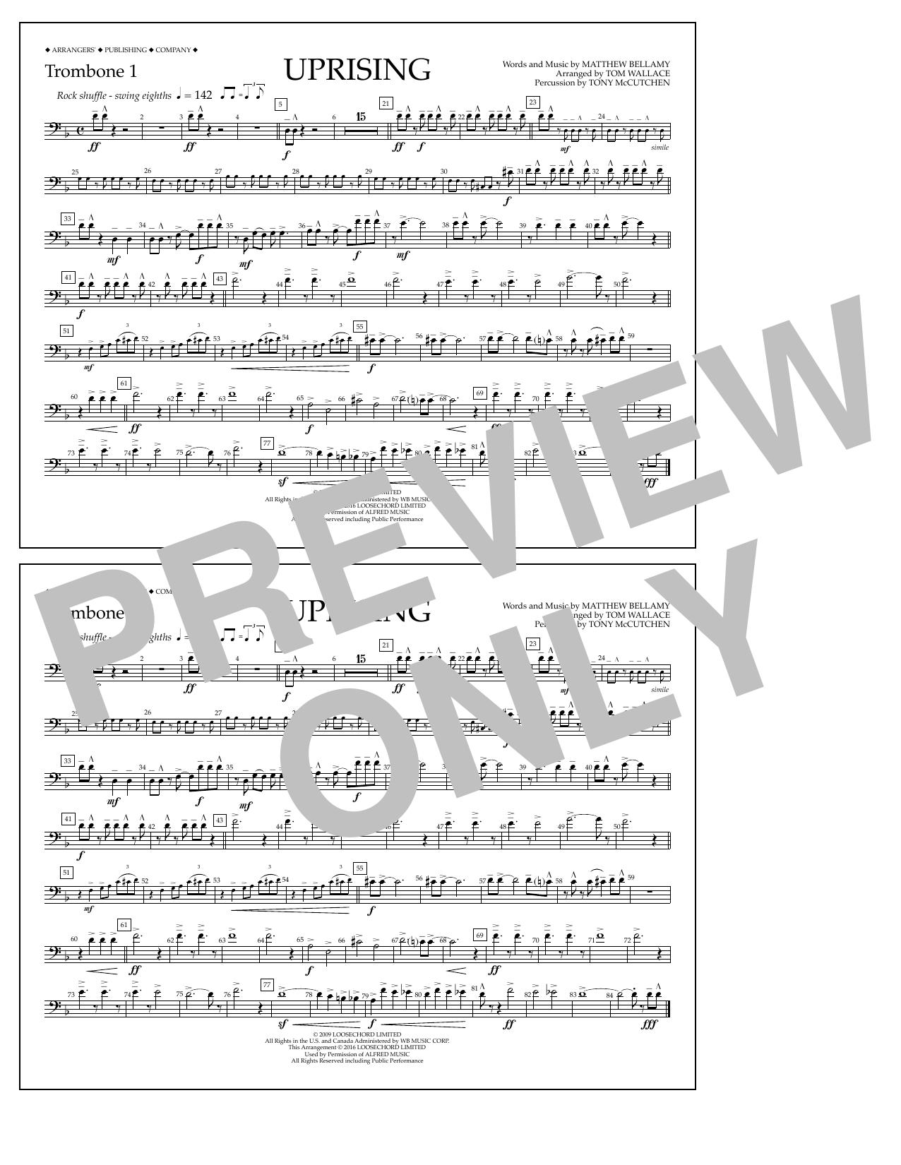 Muse - Uprising - Trombone 1