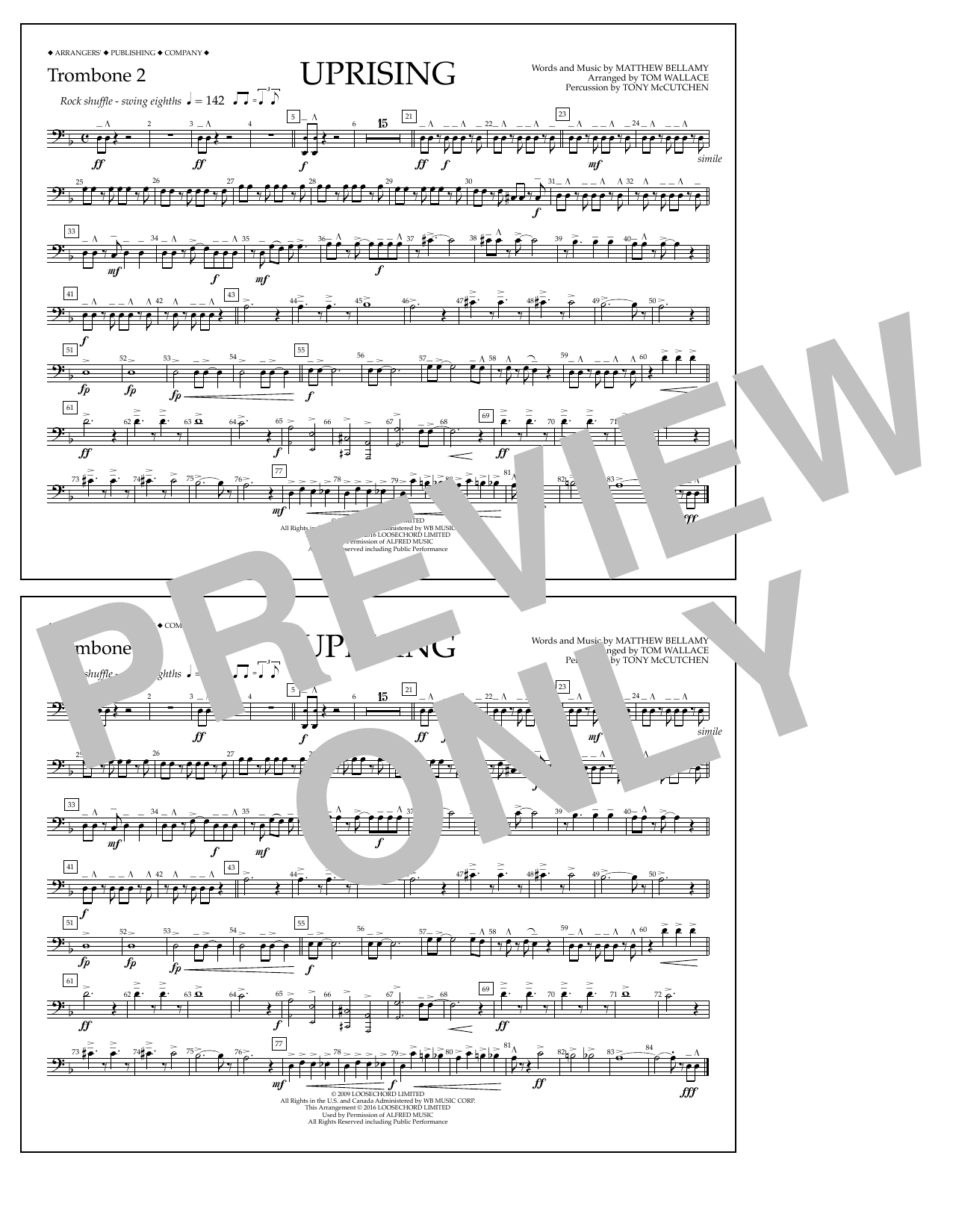 Muse - Uprising - Trombone 2