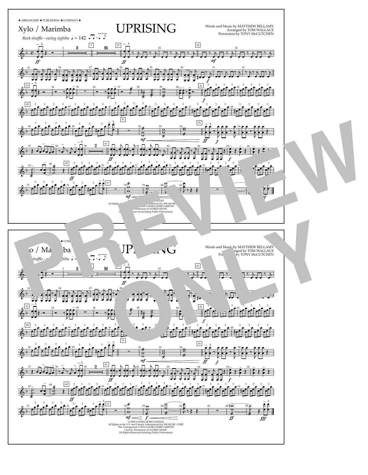 Muse - Uprising - Xylophone/Marimba