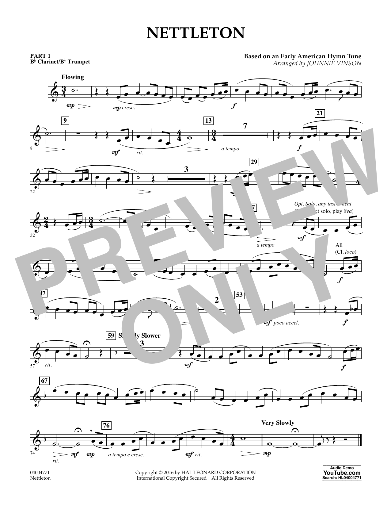 Nettleton - Pt.1 - Bb Clarinet/Bb Trumpet