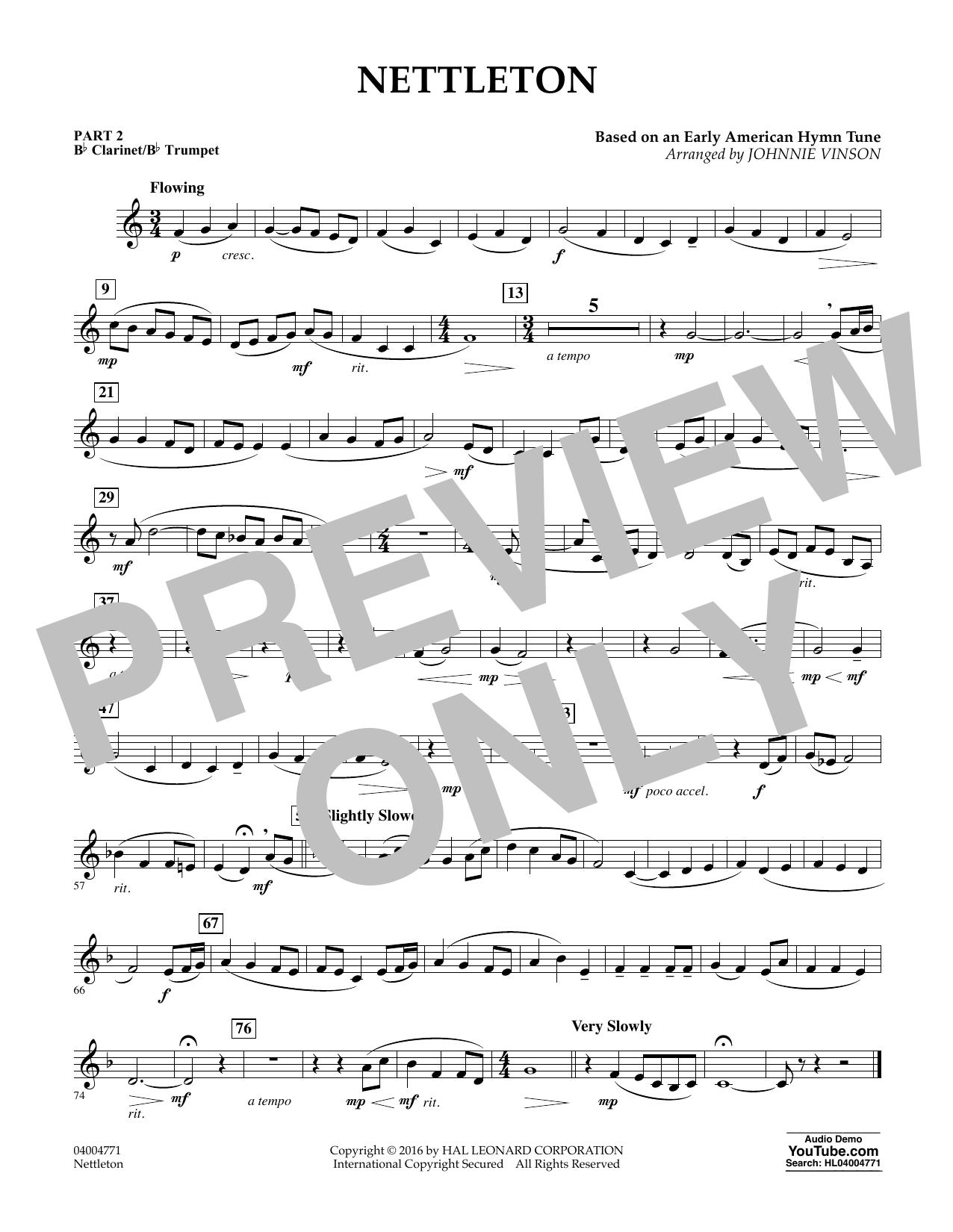 Nettleton - Pt.2 - Bb Clarinet/Bb Trumpet