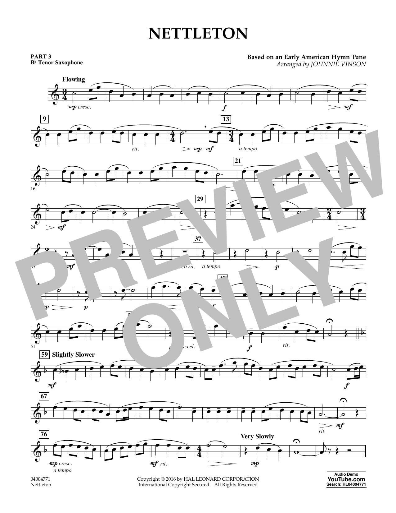 Nettleton - Pt.3 - Bb Tenor Saxophone