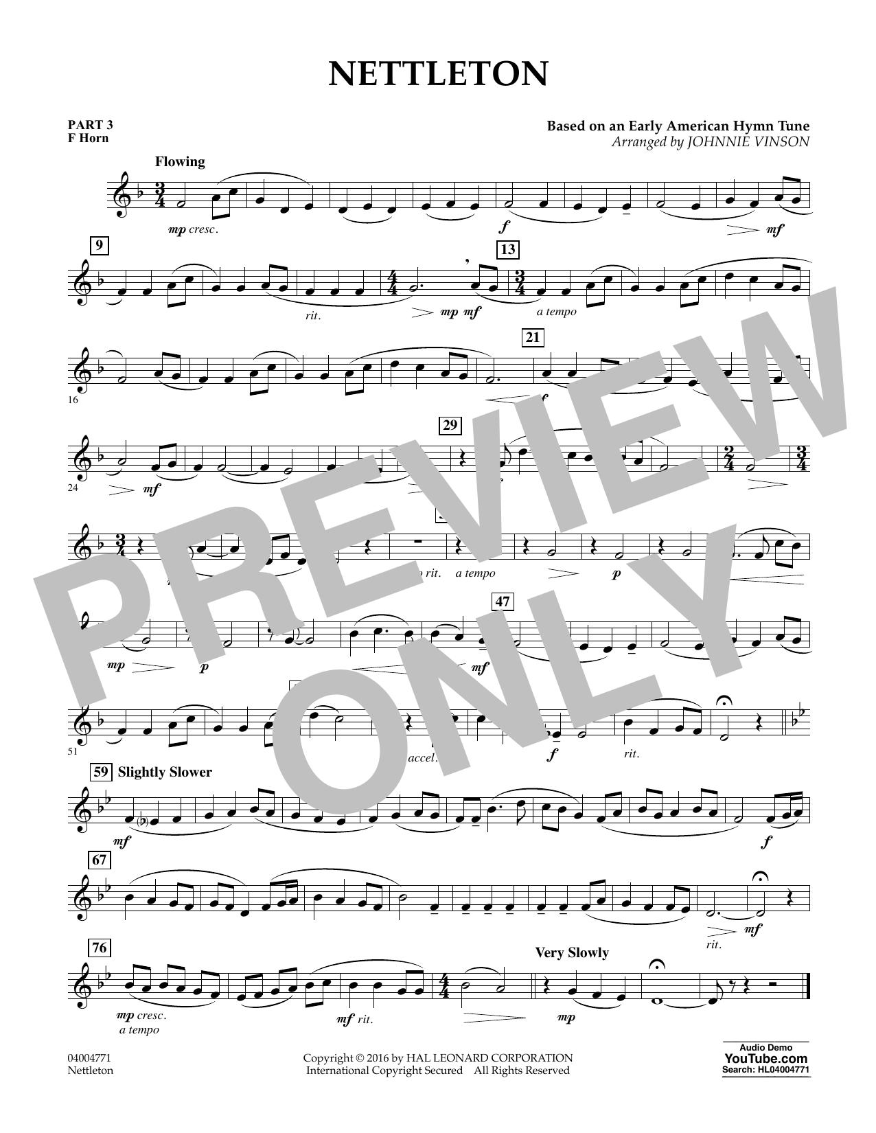 Nettleton - Pt.3 - F Horn