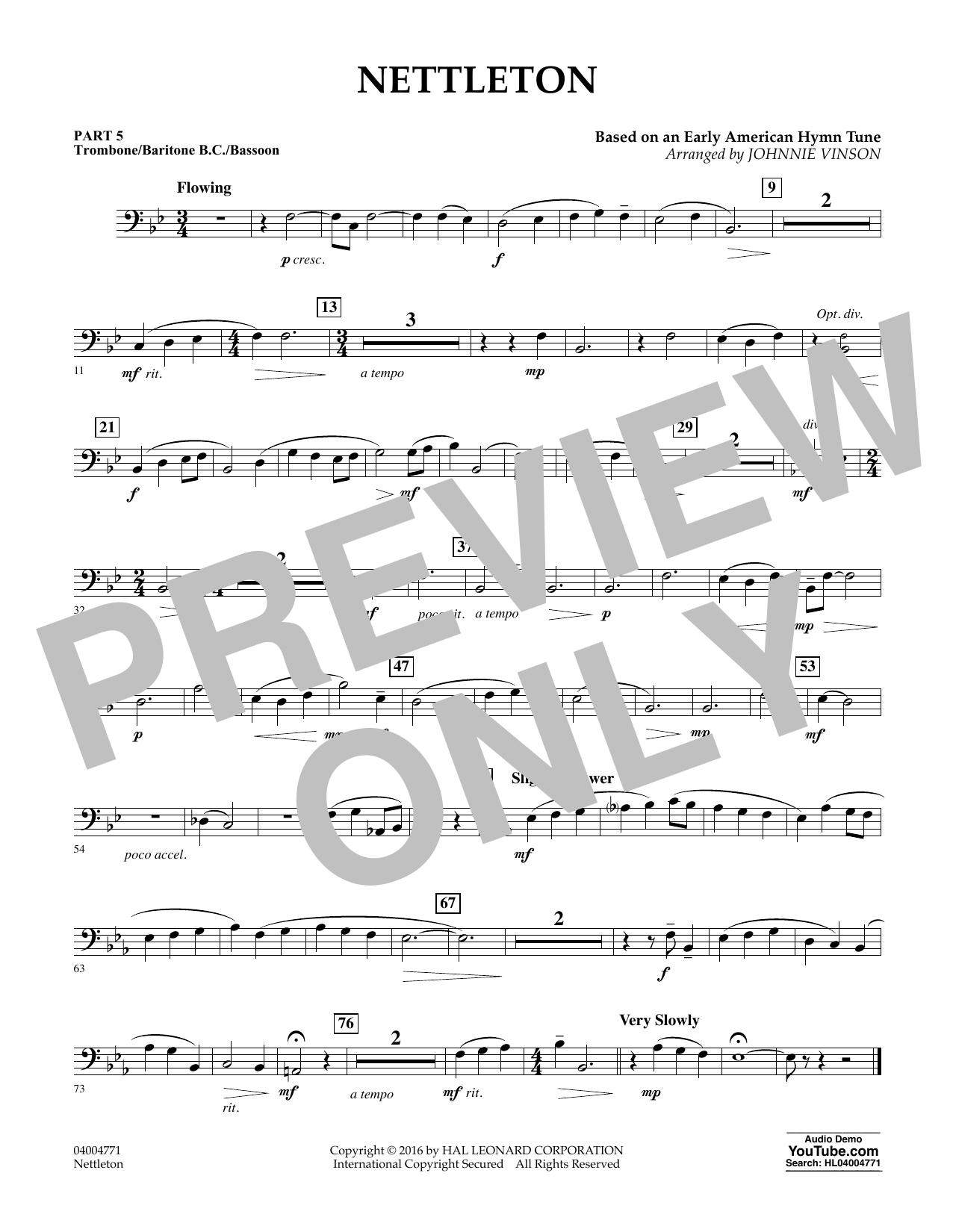 Nettleton - Pt.5 - Trombone/Bar. B.C./Bsn.